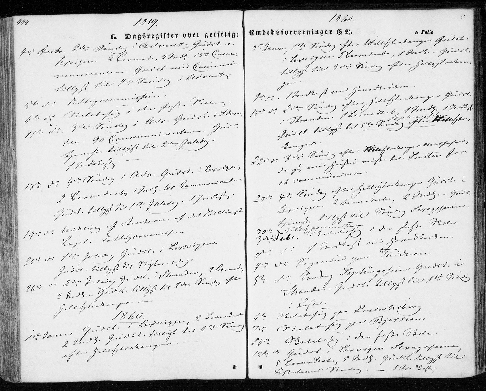 SAT, Ministerialprotokoller, klokkerbøker og fødselsregistre - Nord-Trøndelag, 701/L0008: Parish register (official) no. 701A08 /1, 1854-1863, p. 444