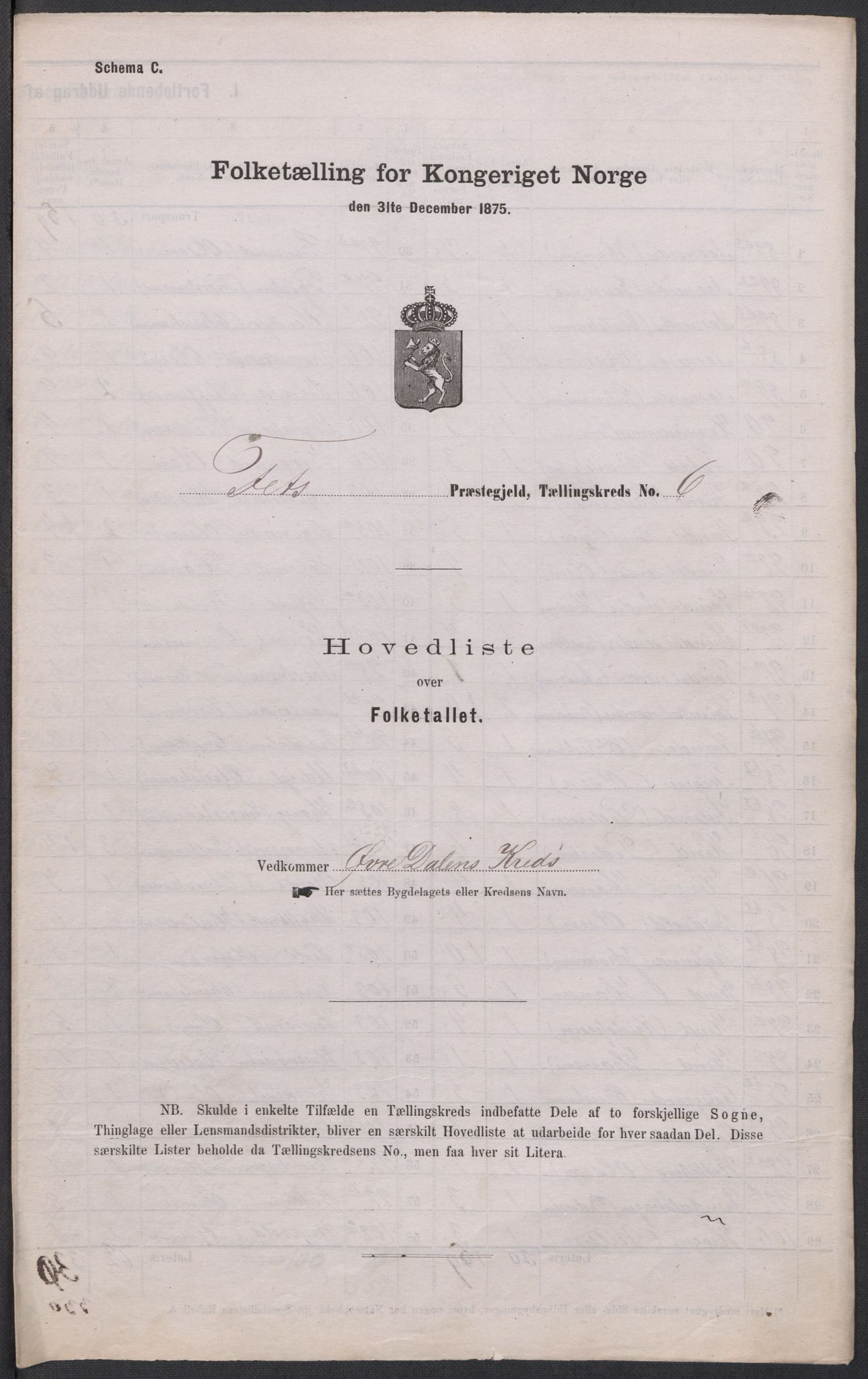 RA, 1875 census for 0227P Fet, 1875, p. 65