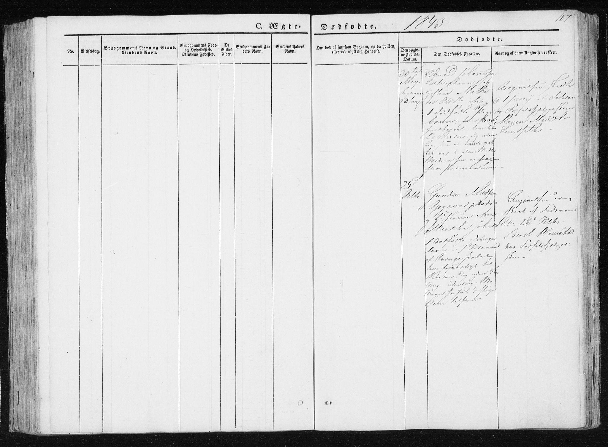 SAT, Ministerialprotokoller, klokkerbøker og fødselsregistre - Nord-Trøndelag, 733/L0323: Parish register (official) no. 733A02, 1843-1870, p. 187
