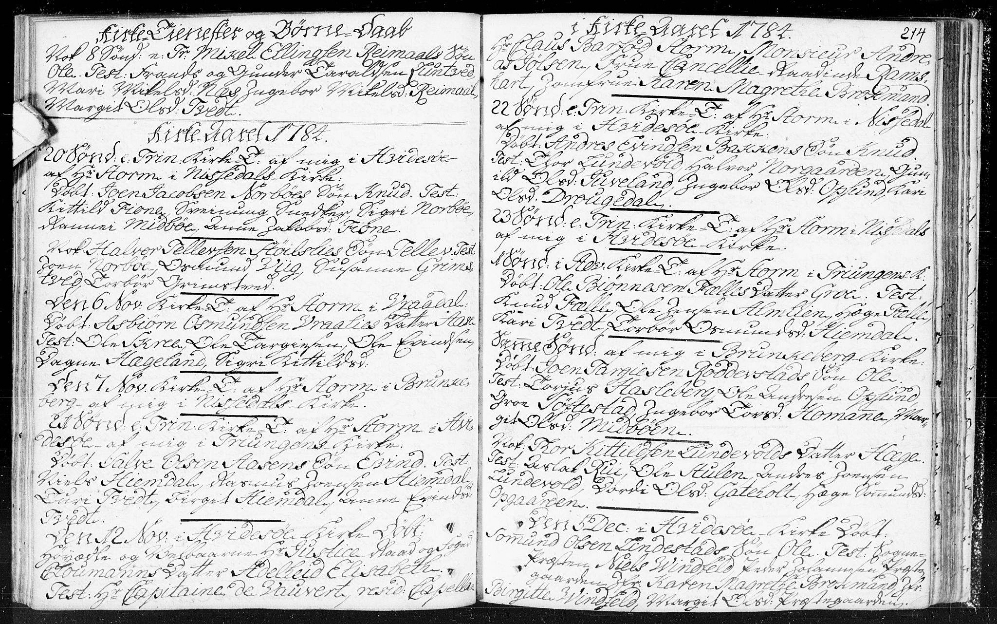 SAKO, Kviteseid kirkebøker, F/Fa/L0002: Parish register (official) no. I 2, 1773-1786, p. 214