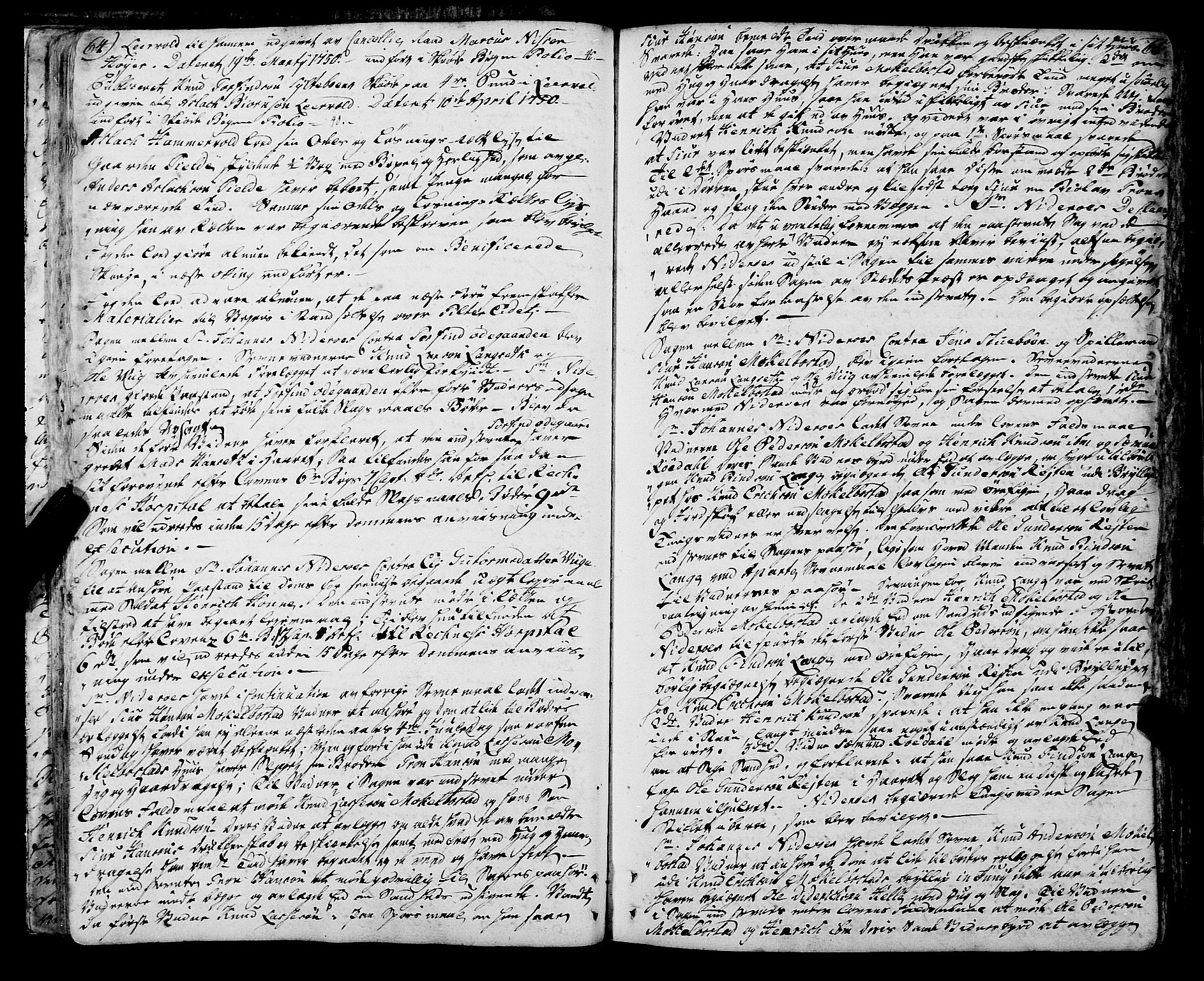 SAT, Romsdal sorenskriveri, 1/1A/L0013: Tingbok, 1749-1757, p. 64-65