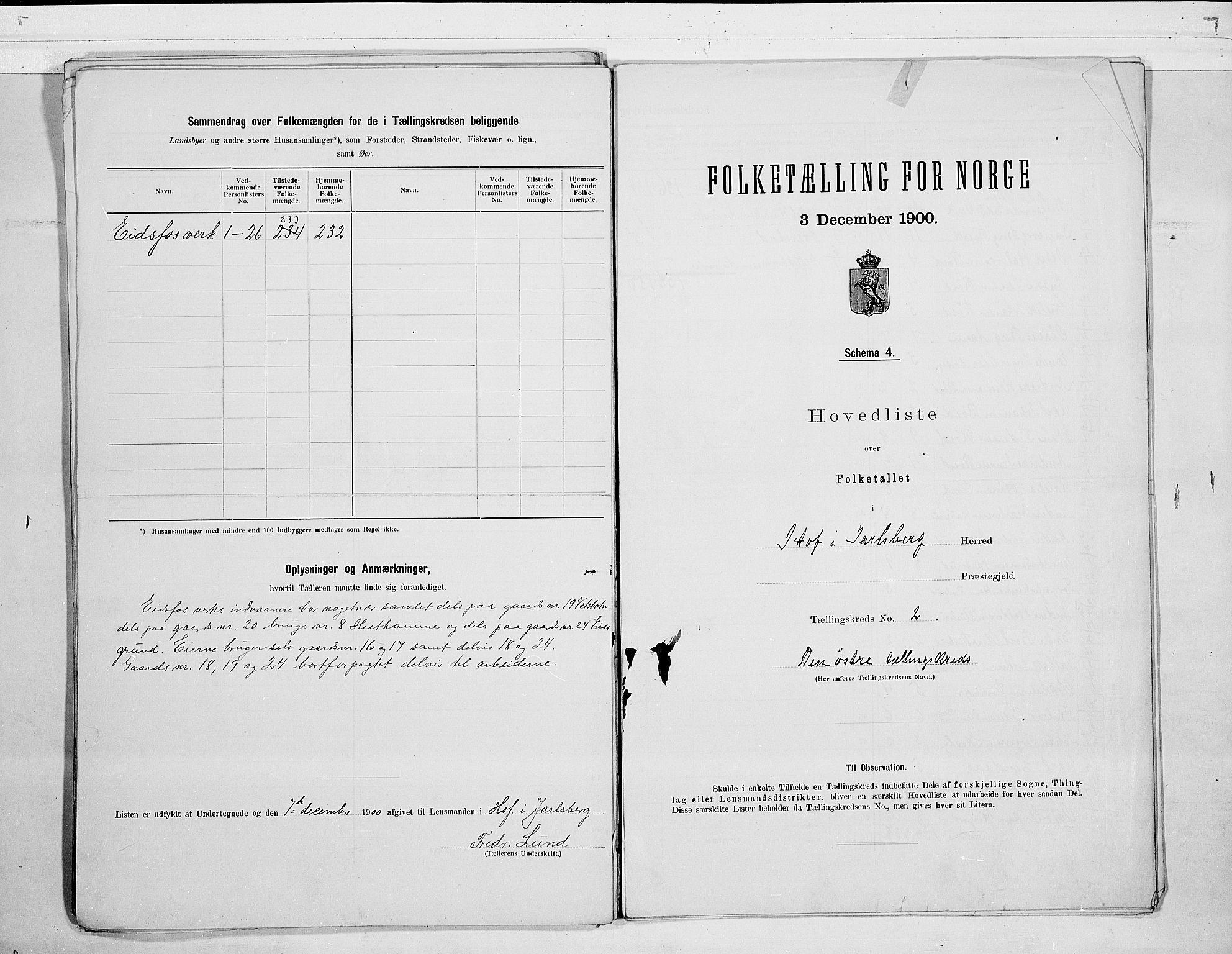 RA, 1900 census for Hof, 1900, p. 8