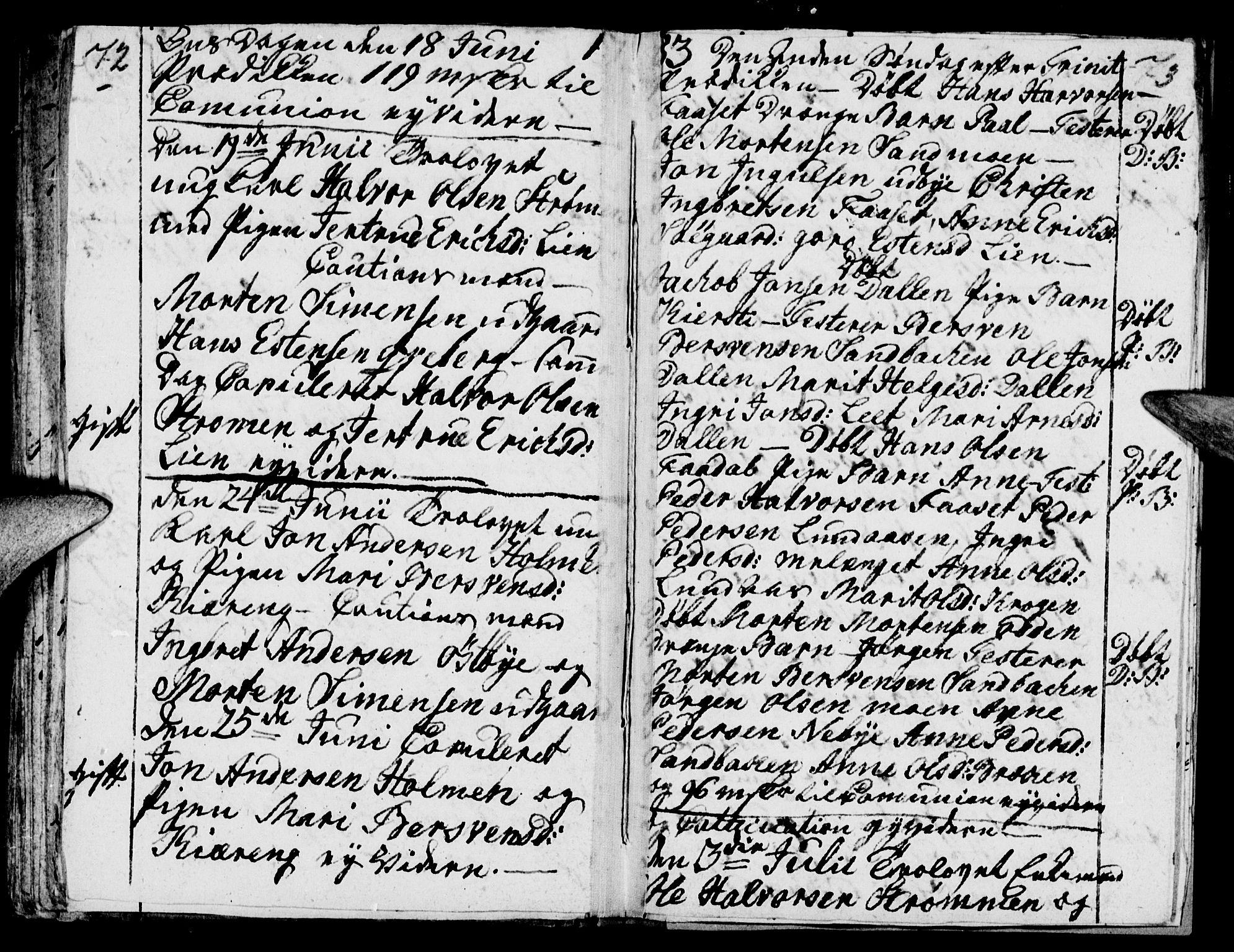 SAH, Tynset prestekontor, Parish register (official) no. 12, 1780-1784, p. 72-73