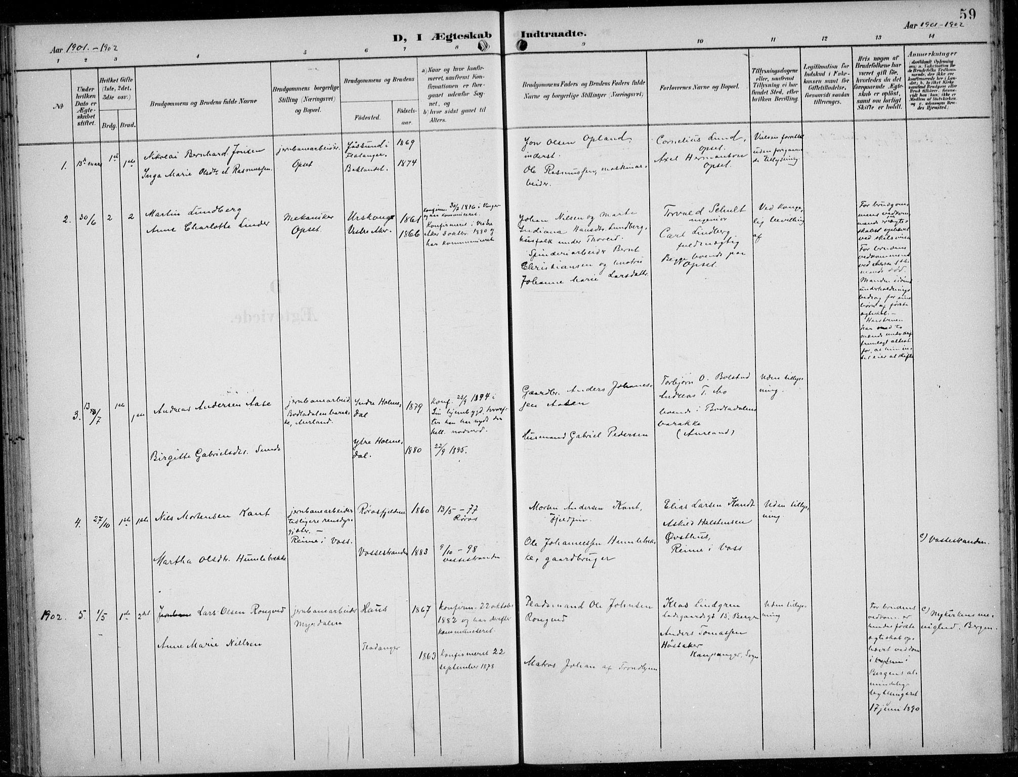 SAB, Parish register (official) no. A  1, 1900-1939, p. 59