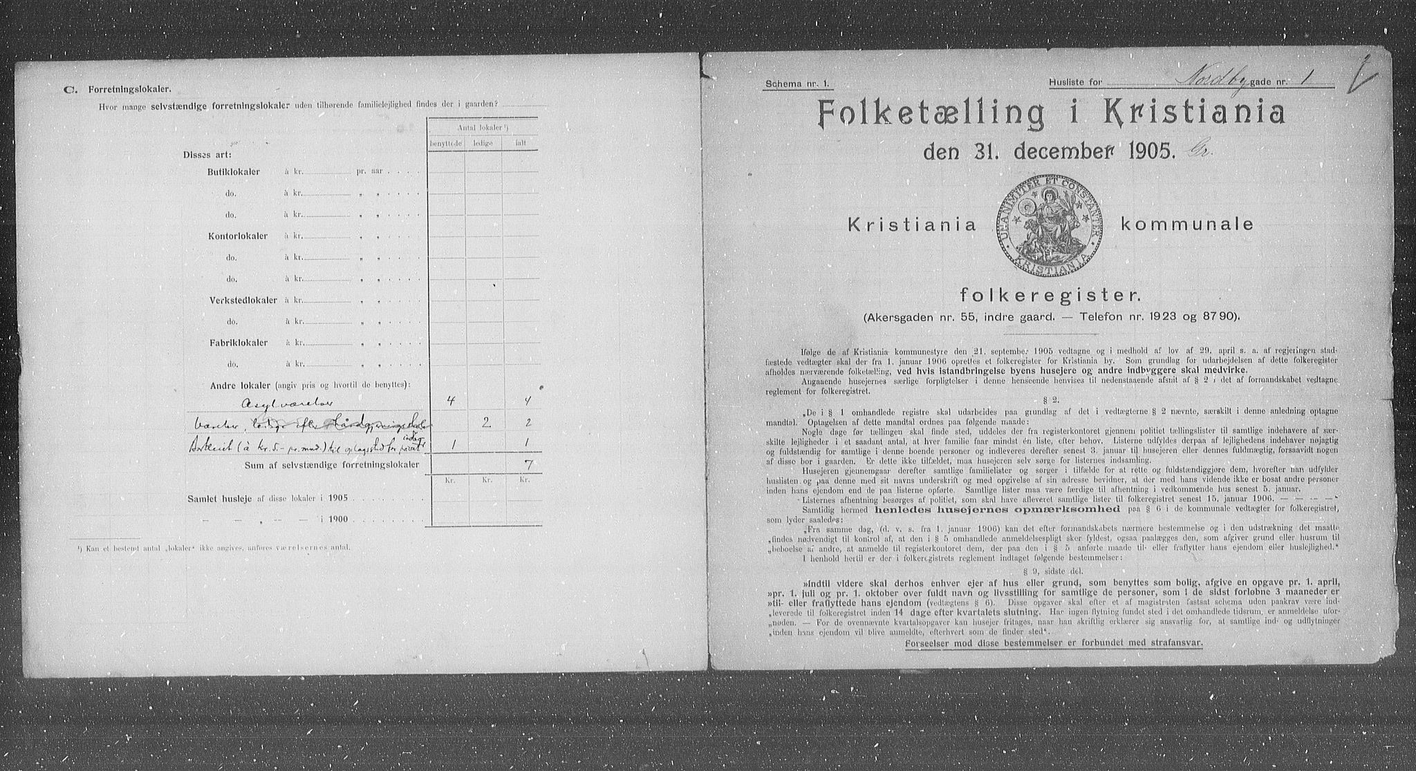 OBA, Municipal Census 1905 for Kristiania, 1905, p. 37738