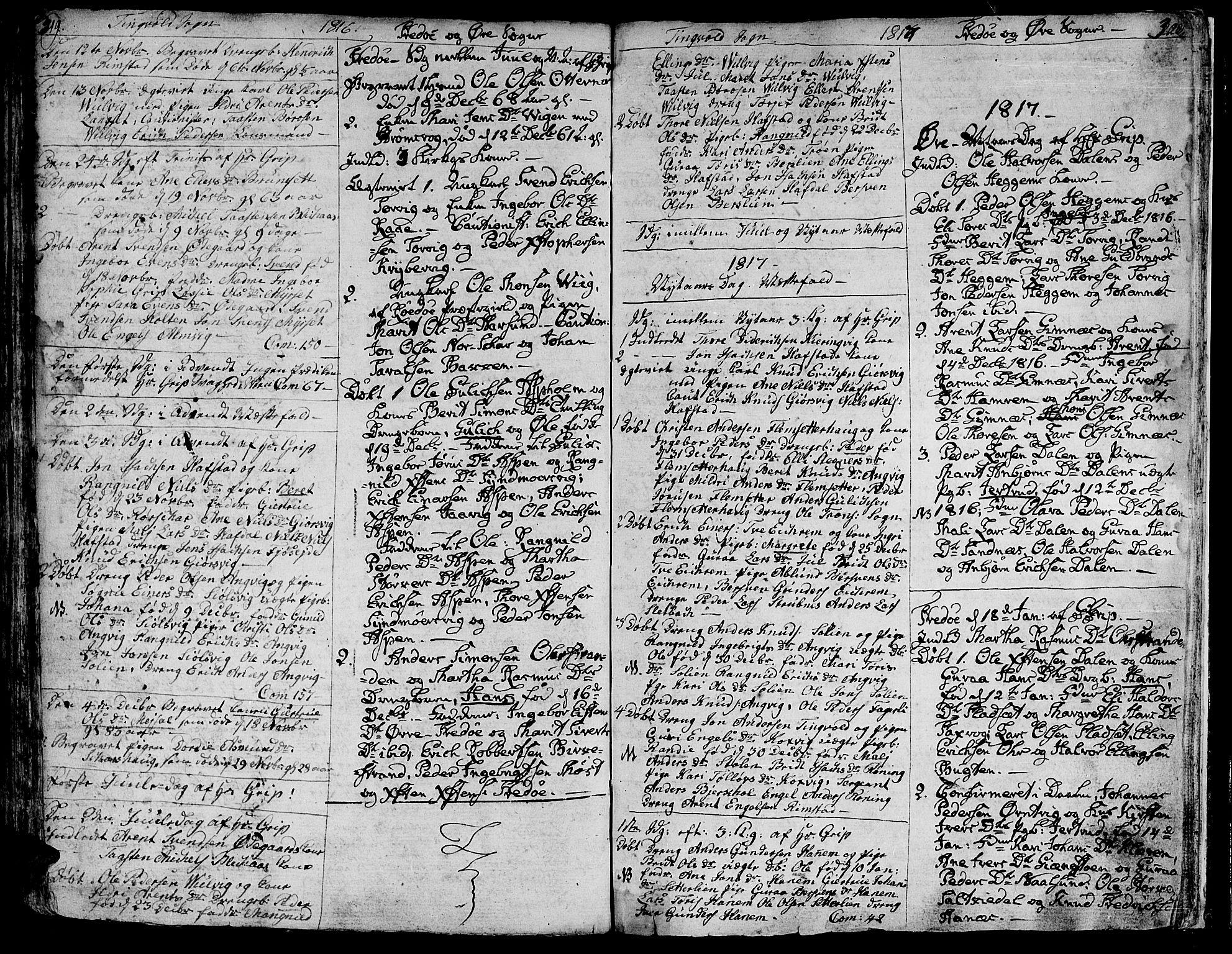 SAT, Ministerialprotokoller, klokkerbøker og fødselsregistre - Møre og Romsdal, 586/L0981: Parish register (official) no. 586A07, 1794-1819, p. 319-320