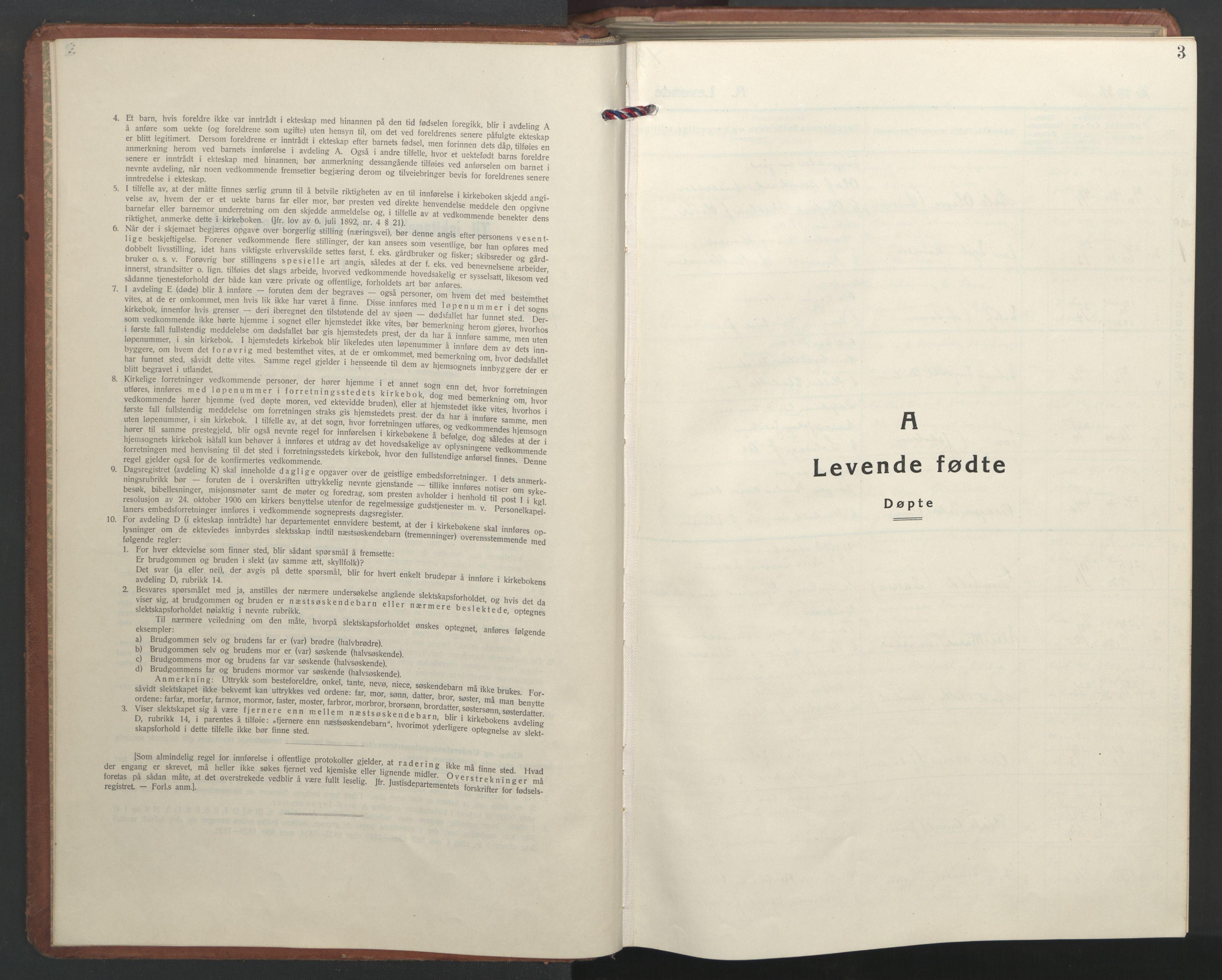 SAT, Ministerialprotokoller, klokkerbøker og fødselsregistre - Nordland, 827/L0425: Parish register (copy) no. 827C14, 1931-1946, p. 3