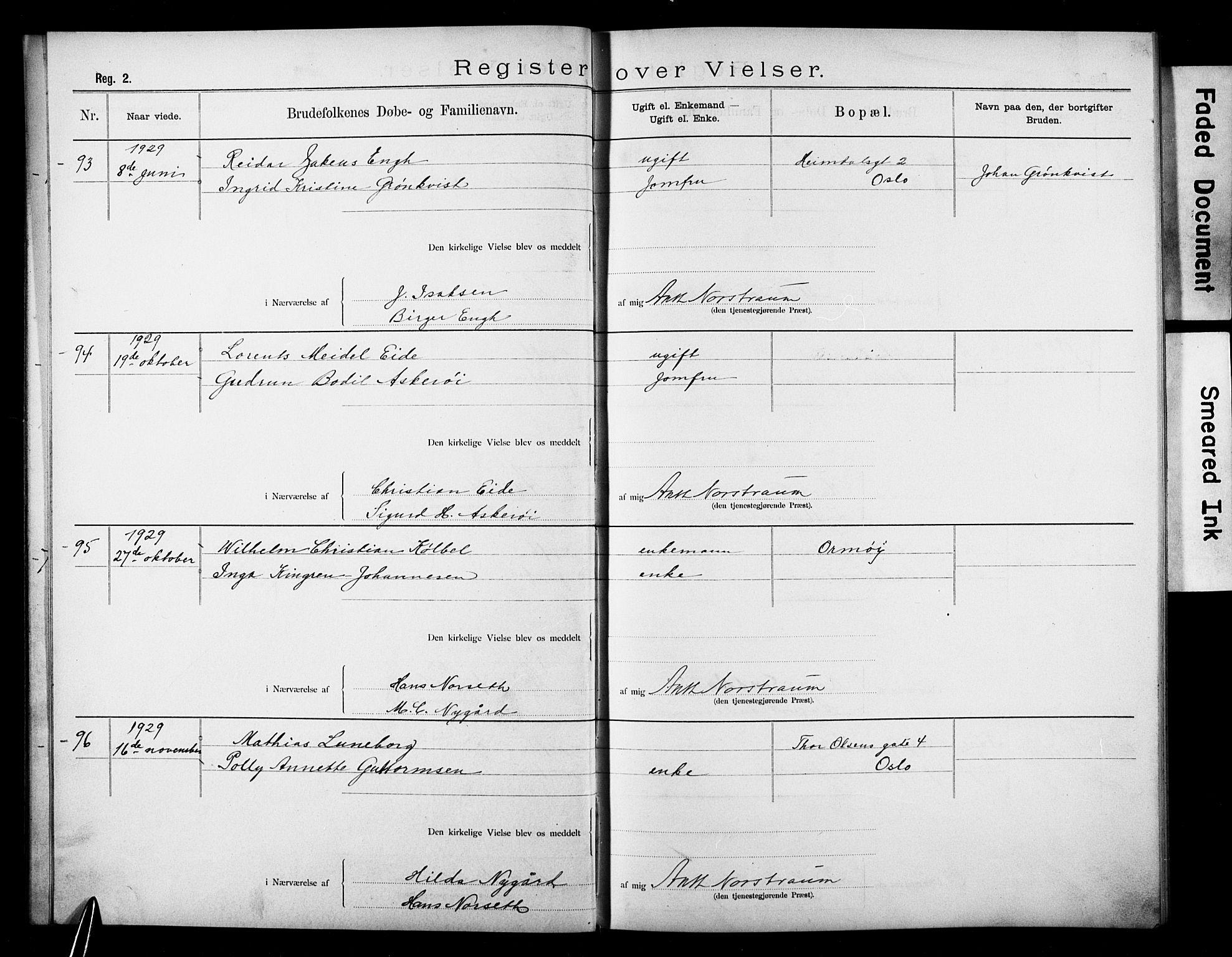 SAO, Den katolsk apostoliske menighet i Oslo , F/Fb/L0003: Dissenter register no. 3, 1905-1932