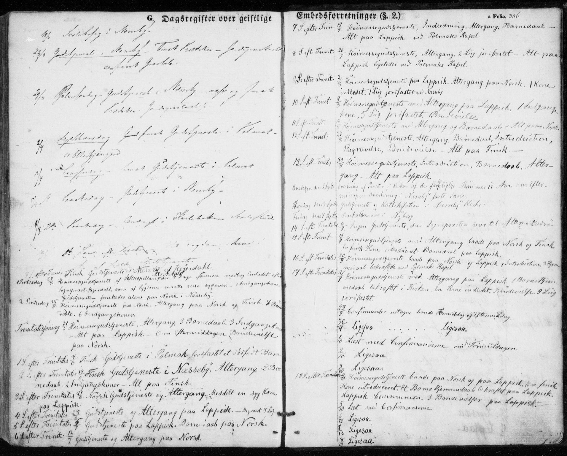 SATØ, Nesseby sokneprestkontor, H/Ha/L0002kirke: Parish register (official) no. 2, 1856-1864, p. 306
