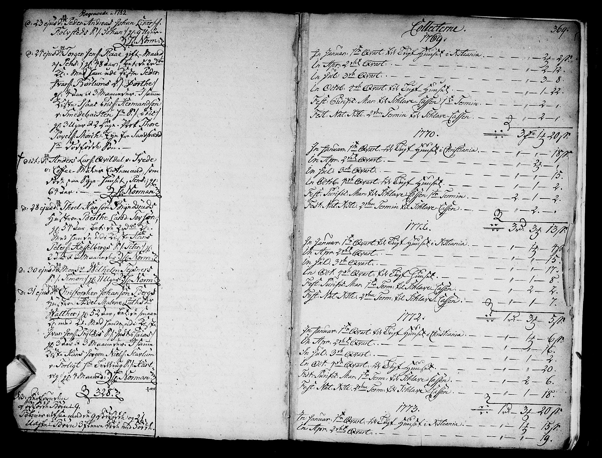 SAKO, Kongsberg kirkebøker, F/Fa/L0005: Parish register (official) no. I 5, 1769-1782, p. 369