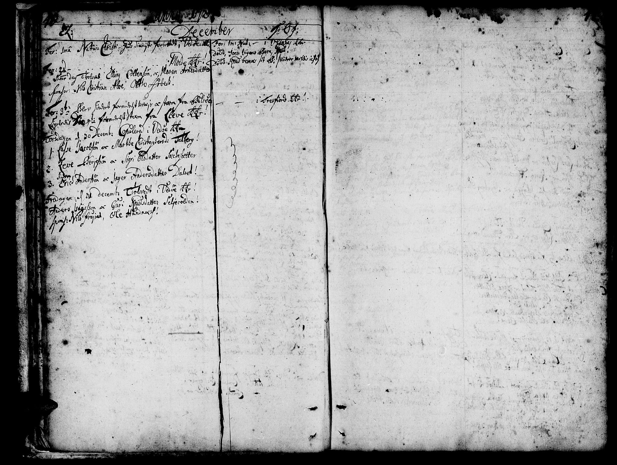 SAT, Ministerialprotokoller, klokkerbøker og fødselsregistre - Møre og Romsdal, 547/L0599: Parish register (official) no. 547A01, 1721-1764, p. 42-43