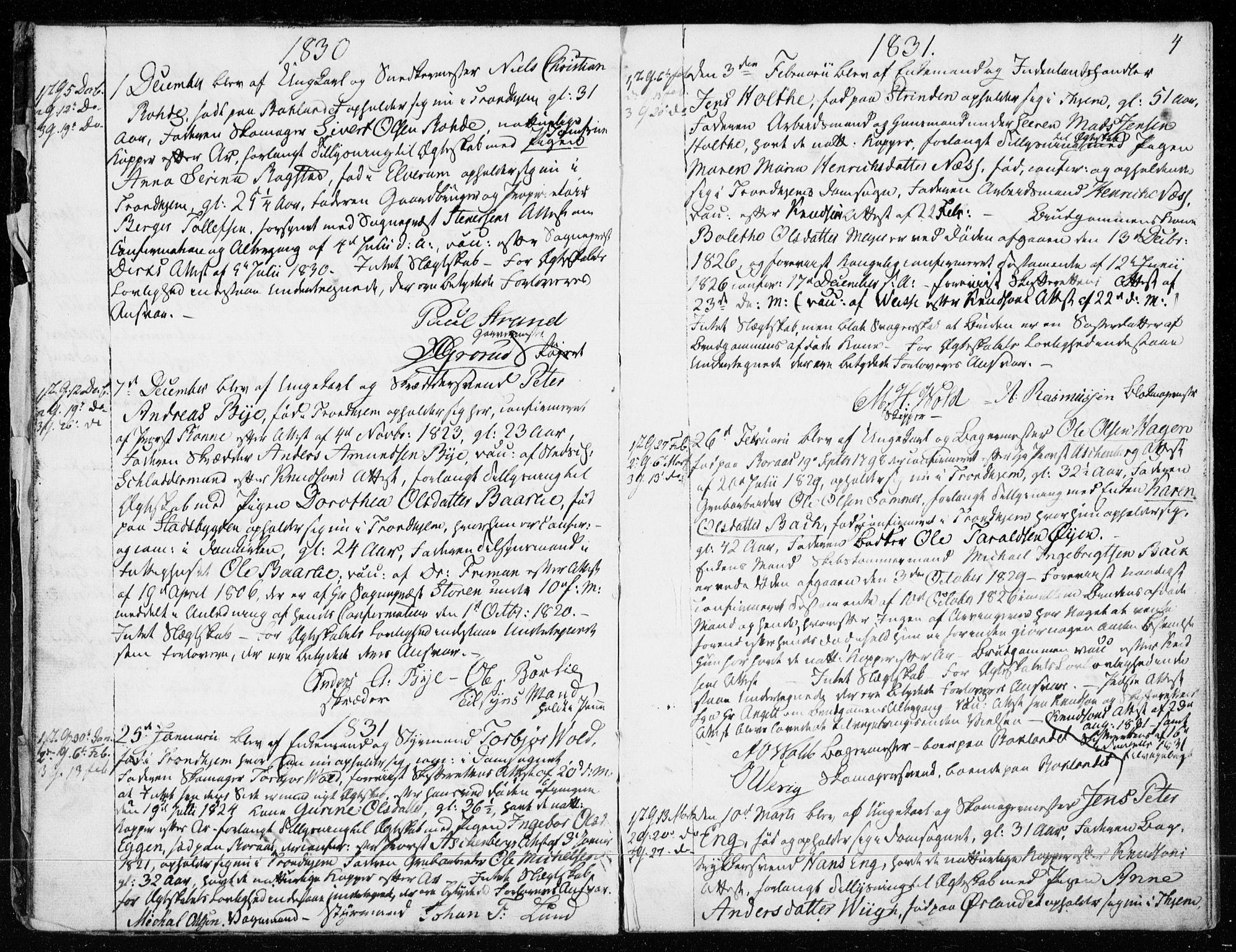 SAT, Ministerialprotokoller, klokkerbøker og fødselsregistre - Sør-Trøndelag, 601/L0046: Parish register (official) no. 601A14, 1830-1841, p. 4