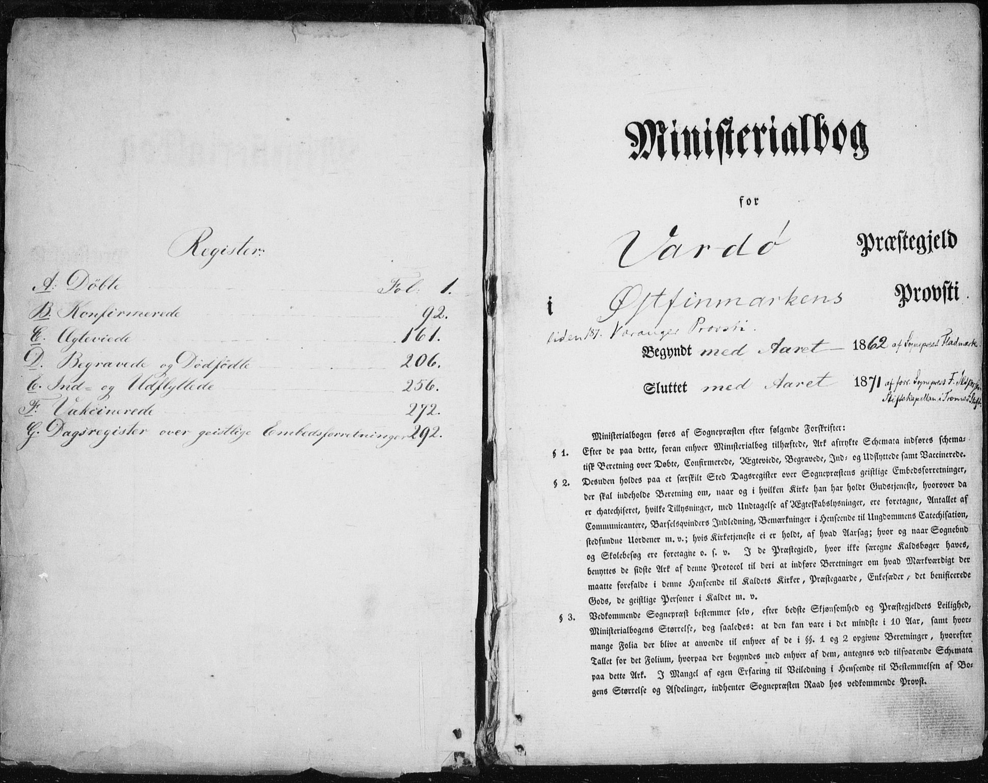 SATØ, Vardø sokneprestkontor, H/Ha/L0004kirke: Parish register (official) no. 4, 1862-1871