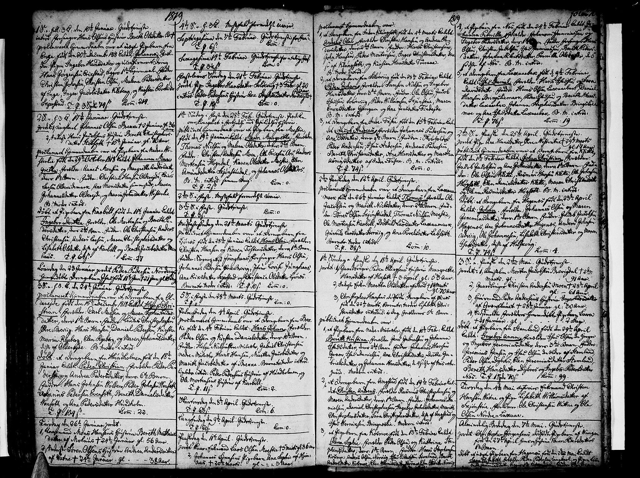 SAT, Ministerialprotokoller, klokkerbøker og fødselsregistre - Nordland, 852/L0735: Parish register (official) no. 852A05, 1762-1820, p. 270