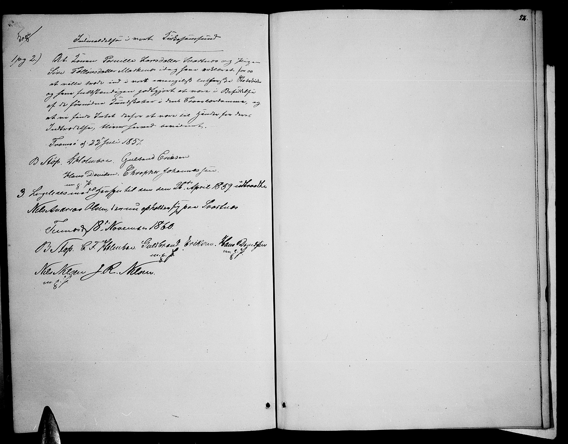 SATØ, Balsfjord sokneprestembete, Parish register (copy) no. 5, 1856-1862, p. 226