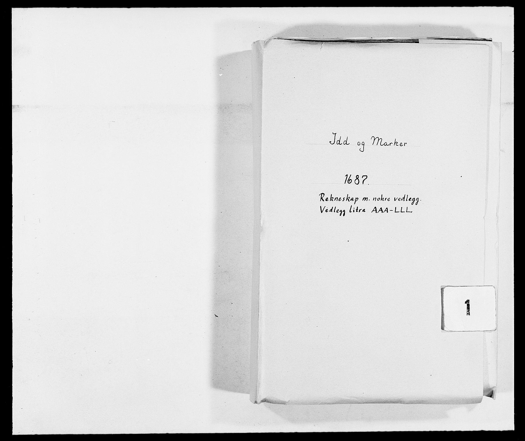 RA, Rentekammeret inntil 1814, Reviderte regnskaper, Fogderegnskap, R01/L0007: Fogderegnskap Idd og Marker, 1687-1688, p. 1