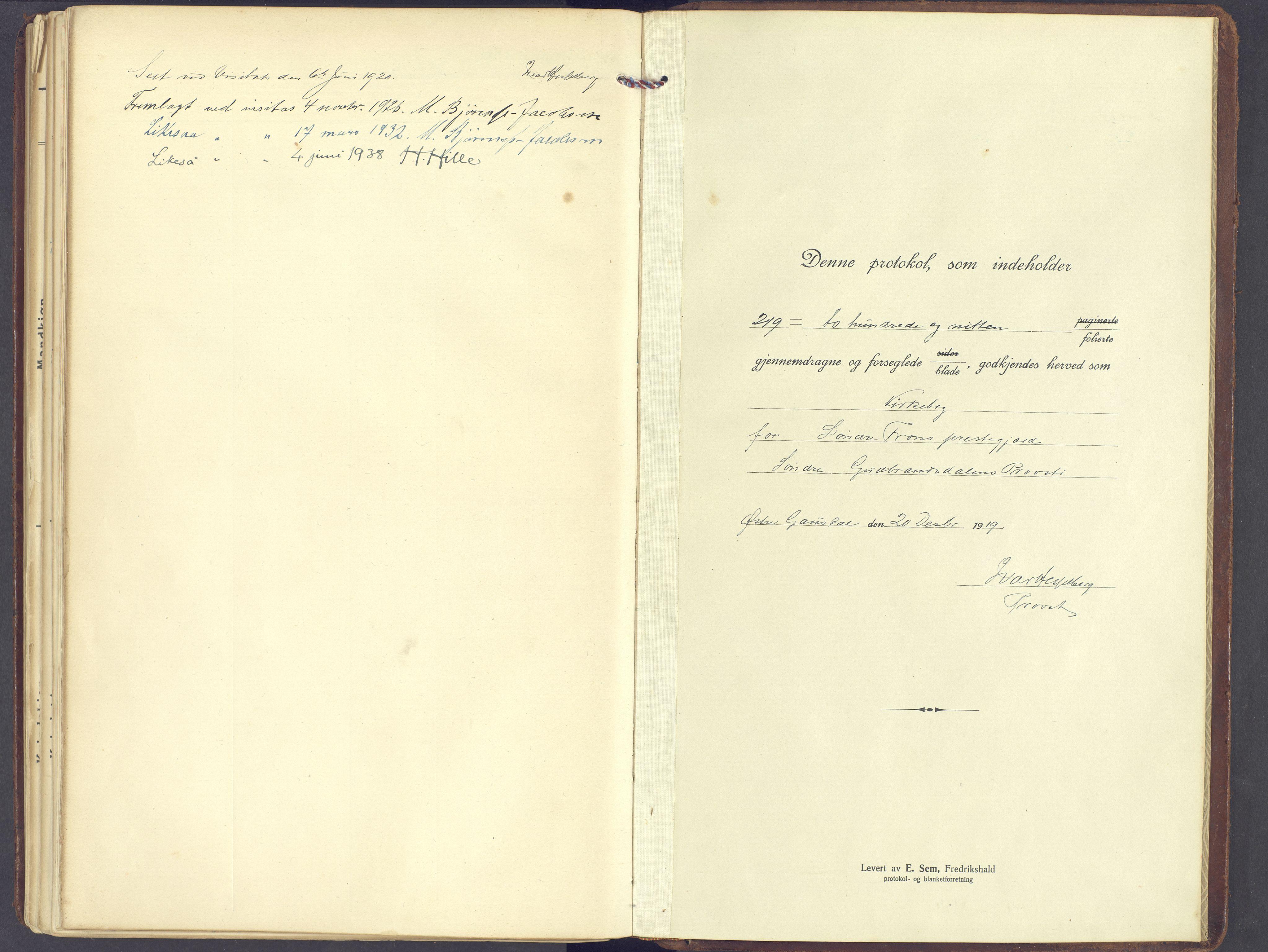 SAH, Sør-Fron prestekontor, H/Ha/Haa/L0005: Parish register (official) no. 5, 1920-1933