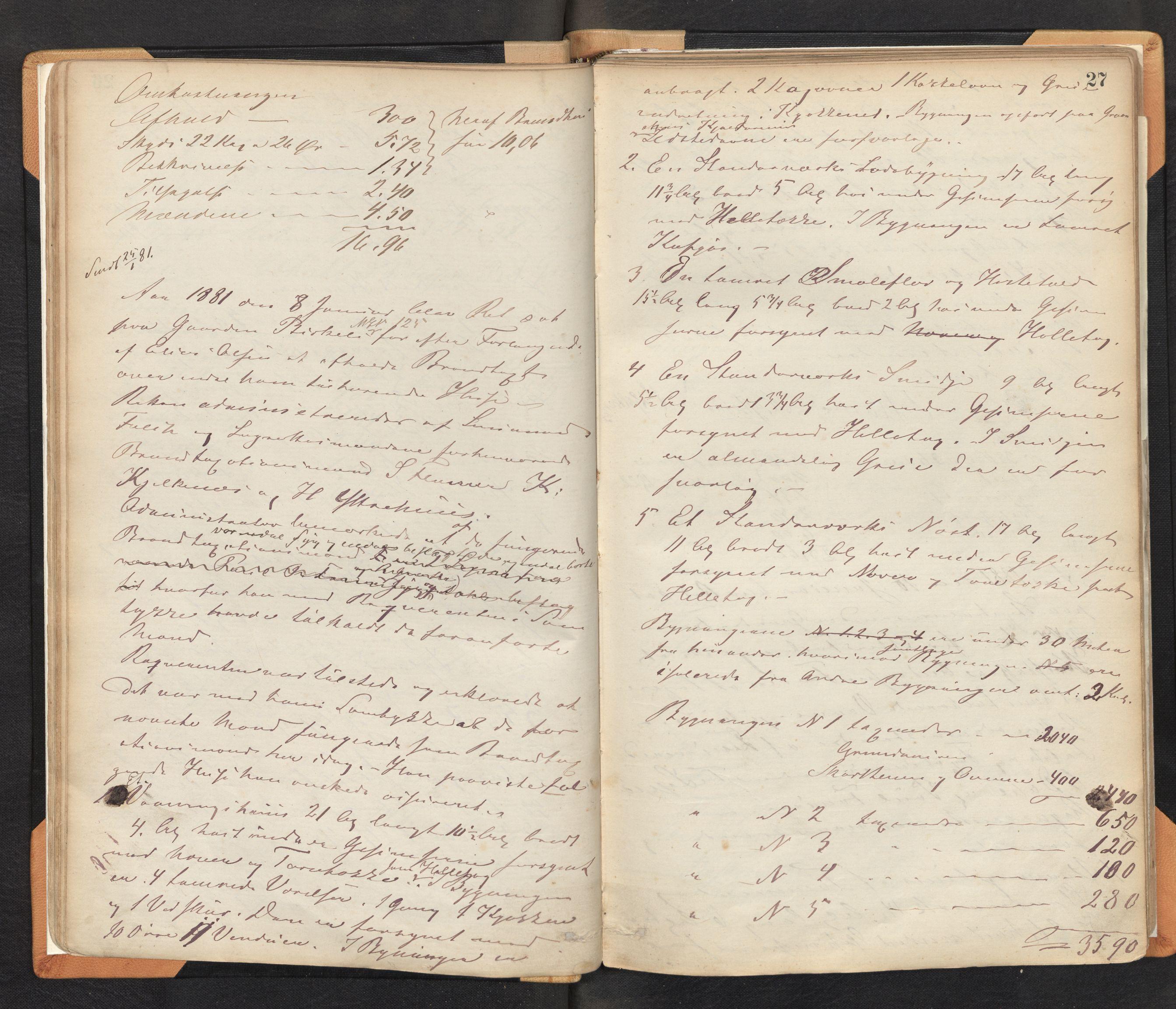 SAB, Lensmannen i Bremanger, 0012/L0002: Branntakstprotokoll, 1879-1947, p. 26b-27a
