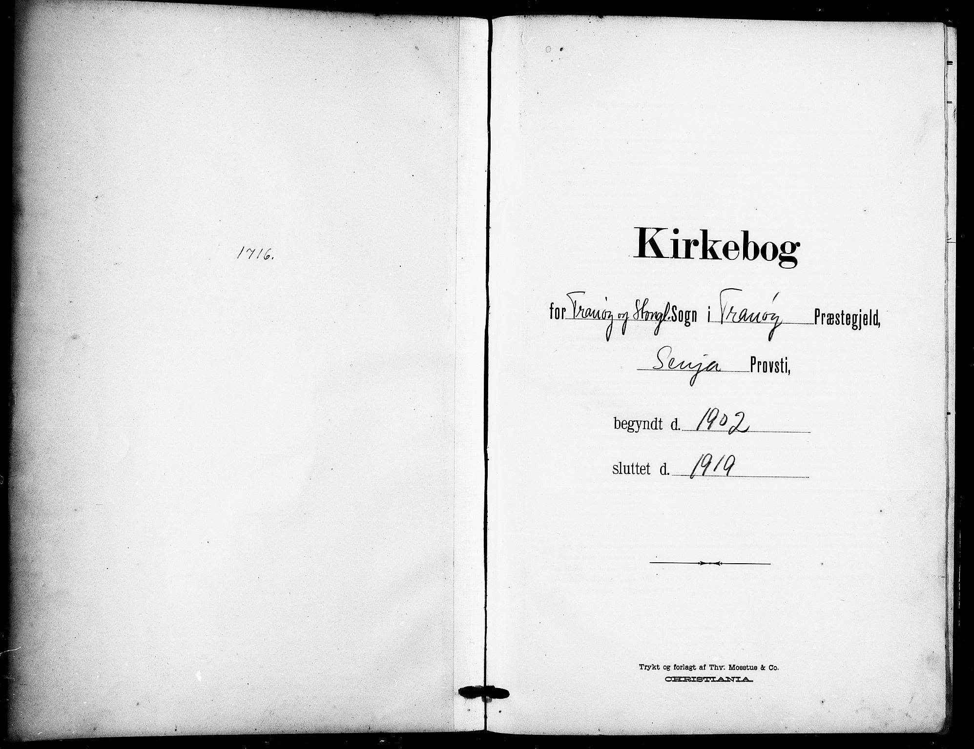 SATØ, Tranøy sokneprestkontor, I/Ia/Iab/L0005klokker: Parish register (copy) no. 5, 1902-1919