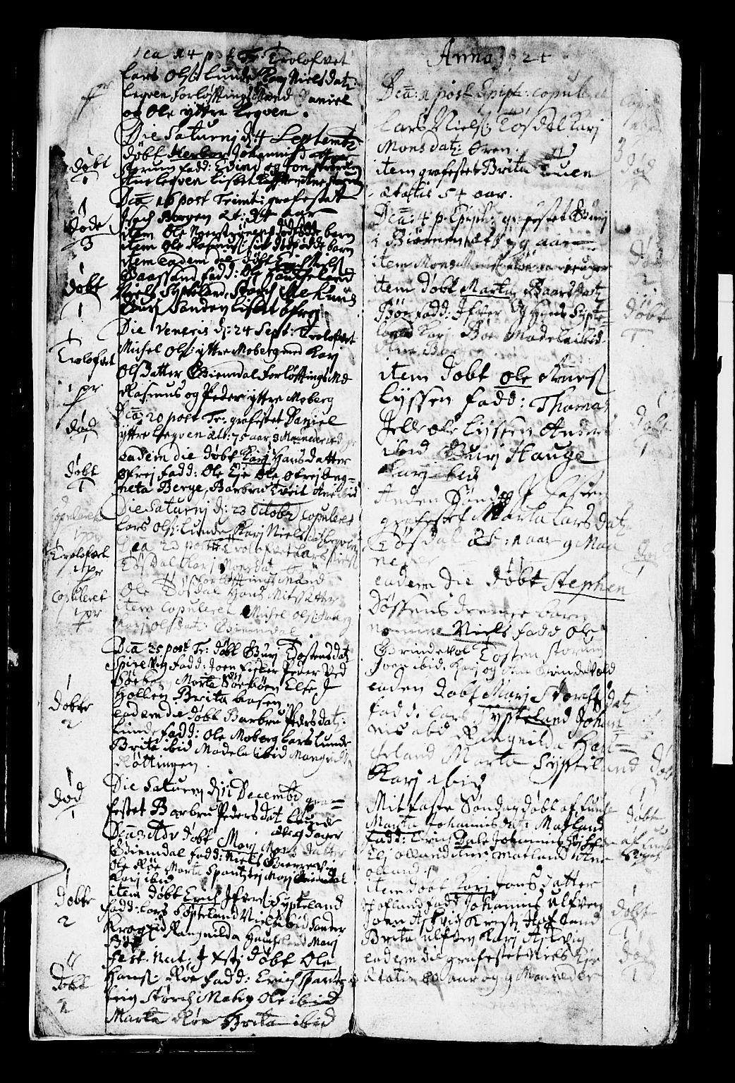 SAB, Os sokneprestembete*, Parish register (official) no. A 2, 1723-1758, p. 3