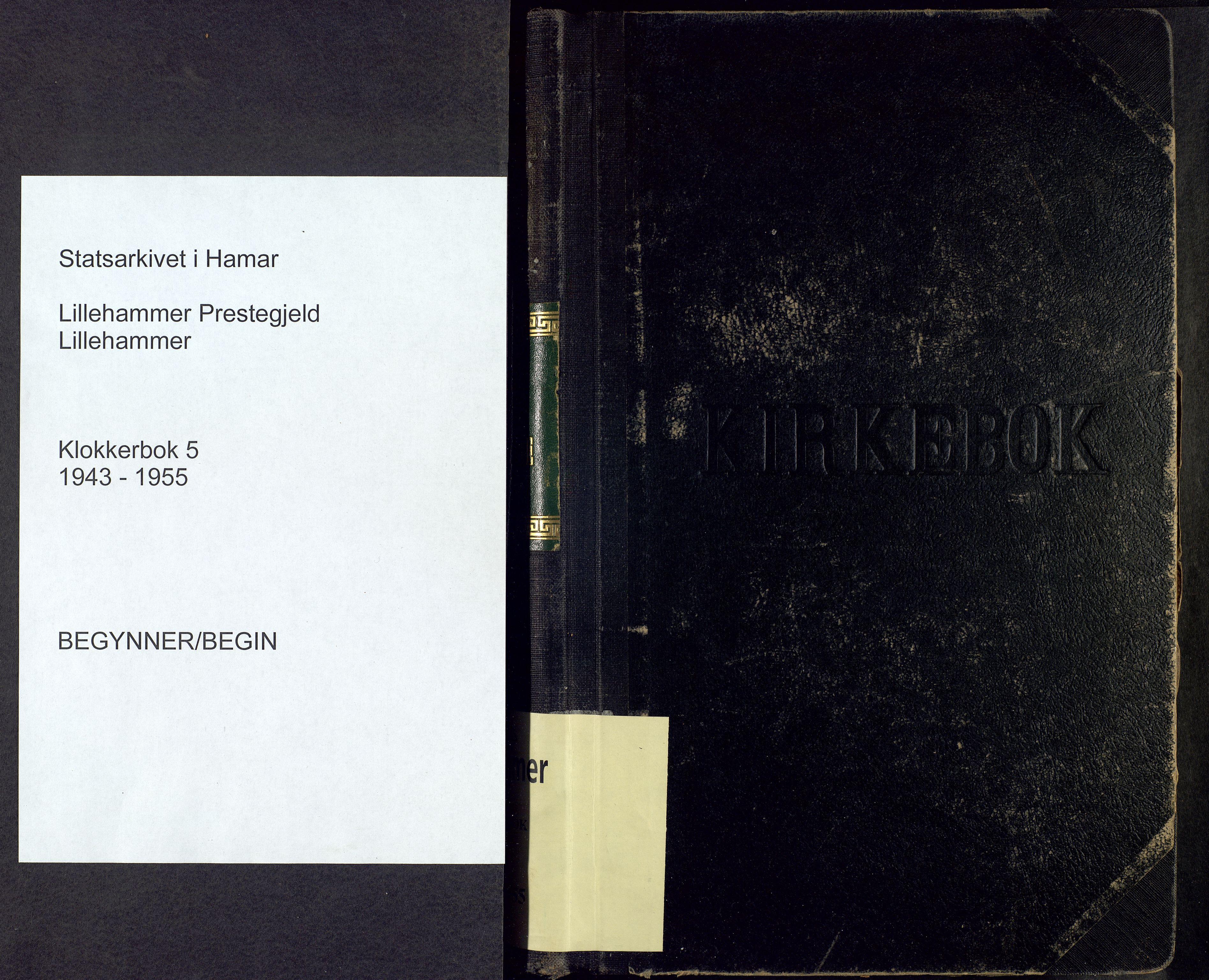 SAH, Lillehammer prestekontor, H/Ha/Hab/L0005: Parish register (copy) no. 5, 1943-1955