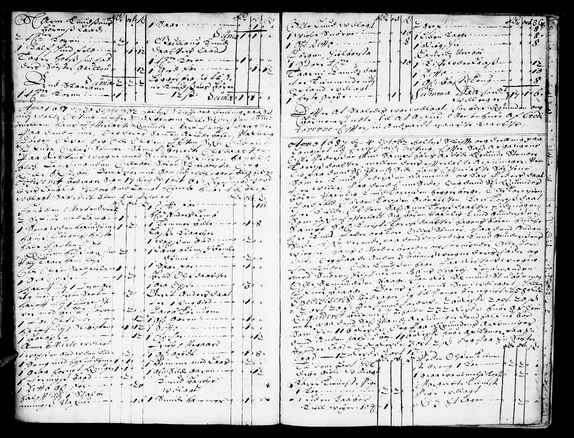 SAT, Romsdal sorenskriveri, 3/3A/L0002: Skifteprotokoll, 1683-1687, p. 85b-86a