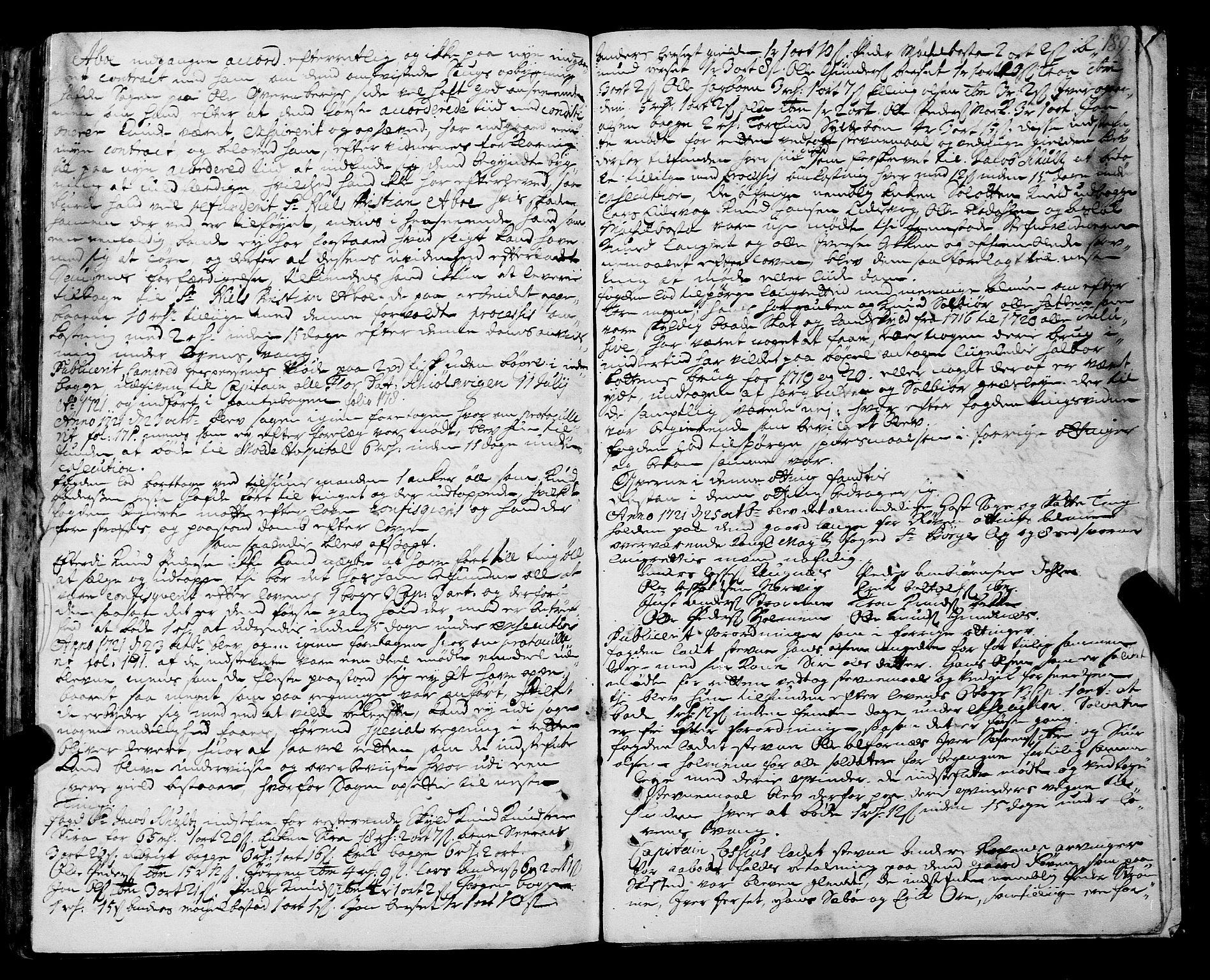 SAT, Romsdal sorenskriveri, 1/1A/L0008: Tingbok, 1714-1721, p. 188b-189a