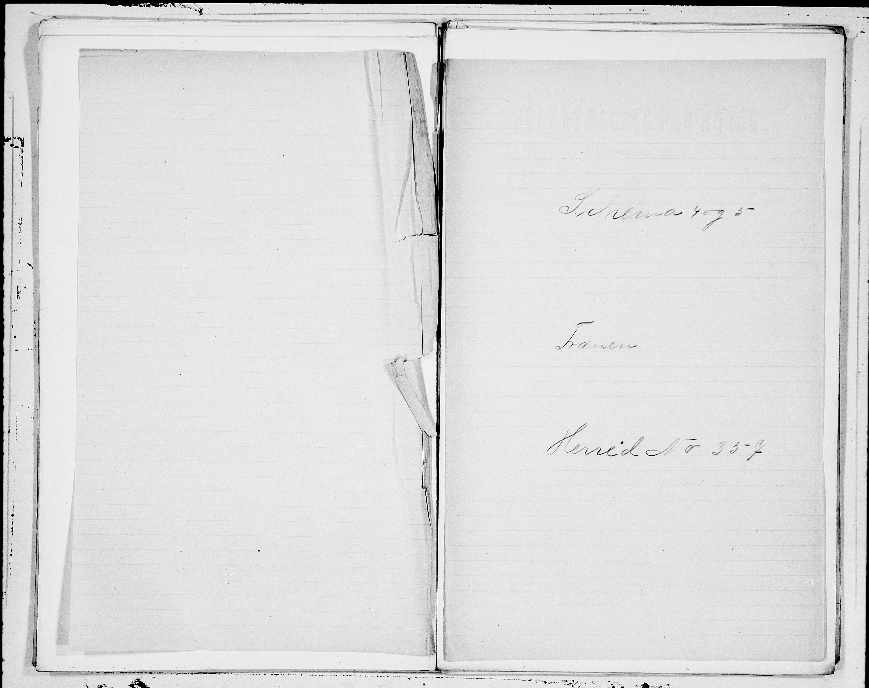 SAT, 1900 census for Fræna, 1900, p. 1