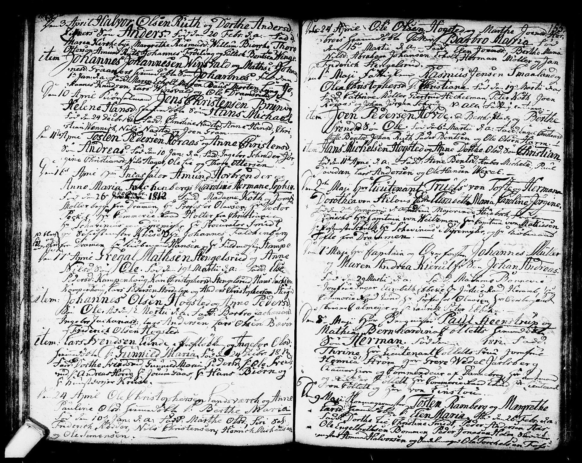 SAKO, Kongsberg kirkebøker, F/Fa/L0007: Parish register (official) no. I 7, 1795-1816, p. 155
