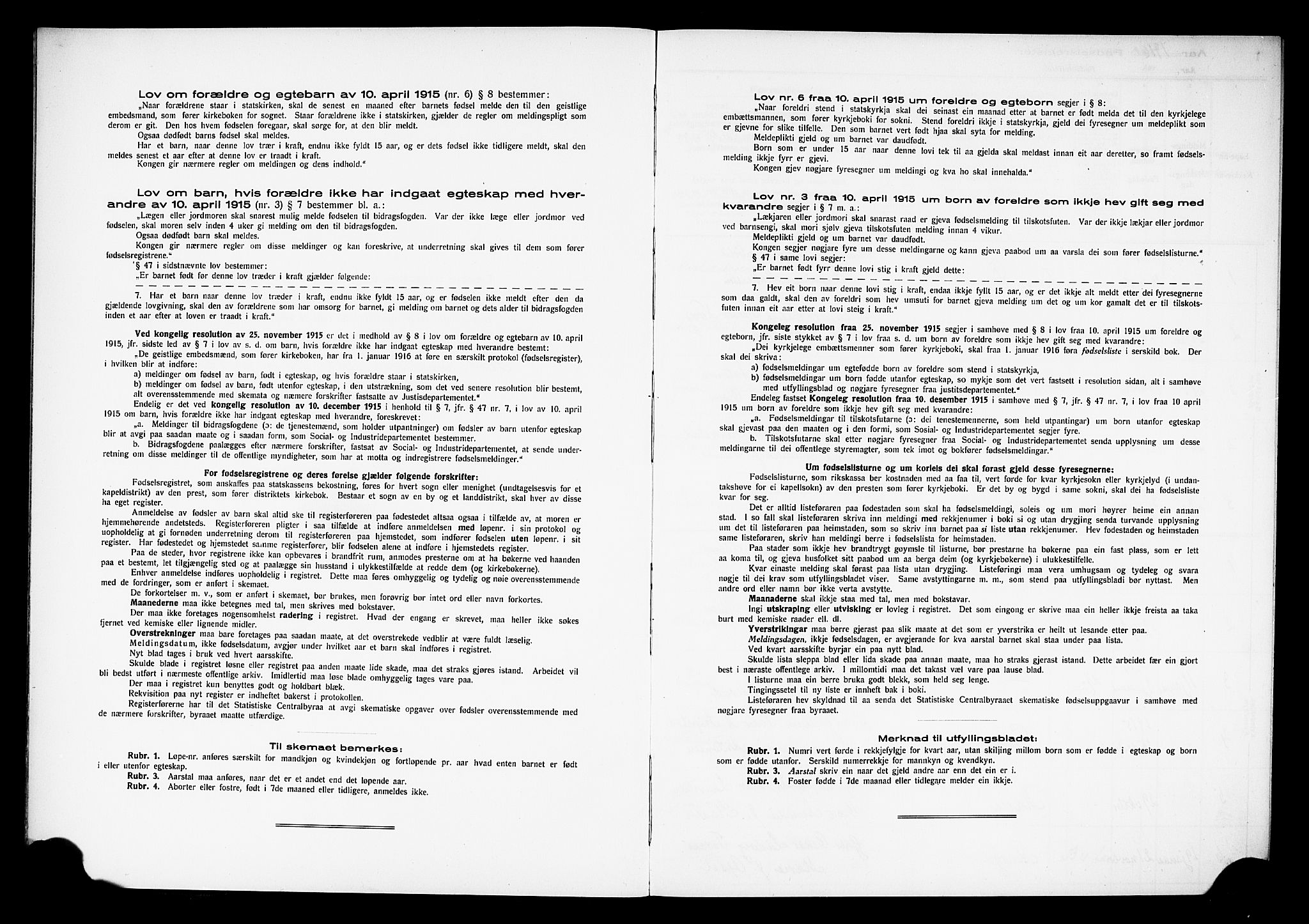 SAH, Østre Toten prestekontor, Birth register no. 15, 1916-1928