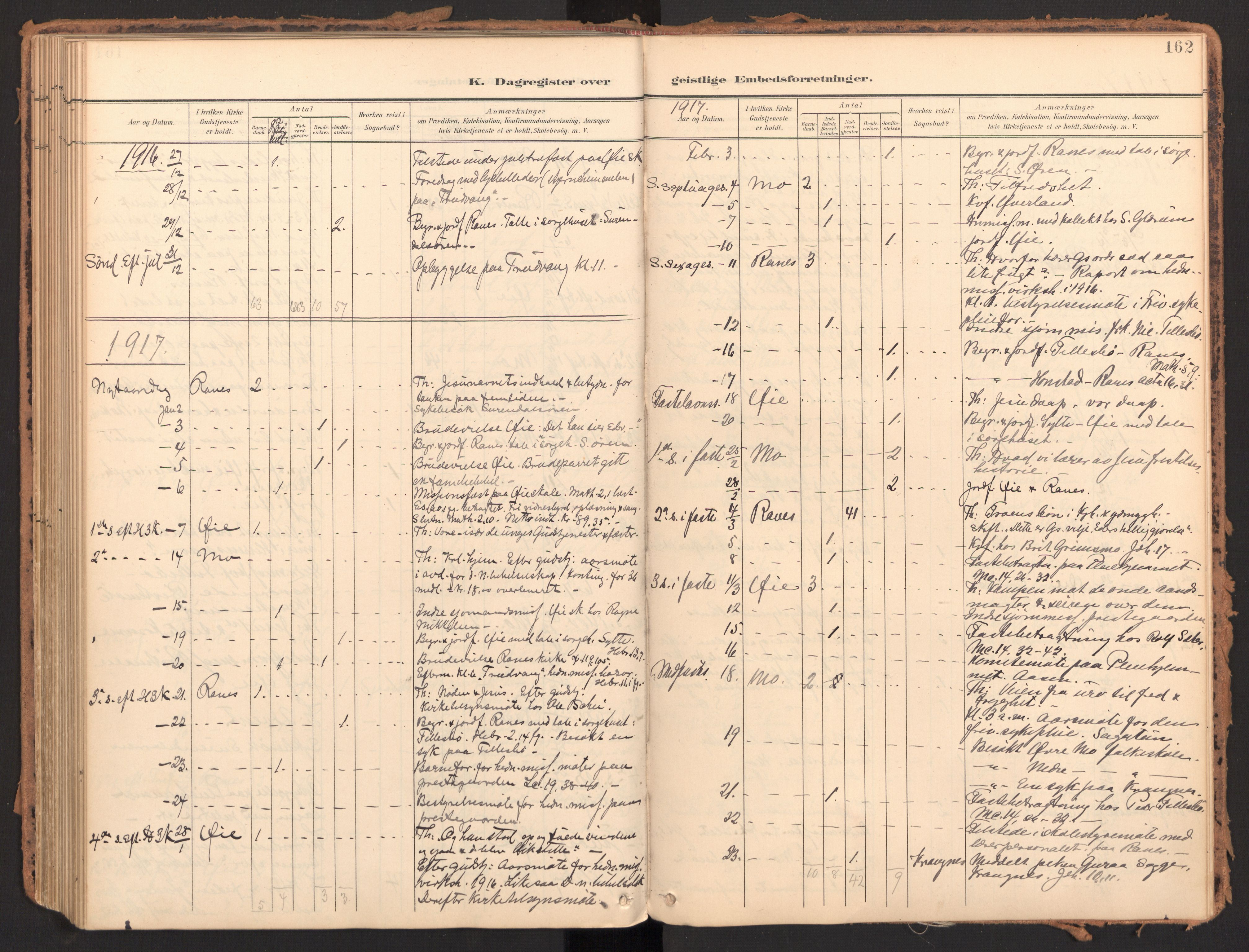 SAT, Ministerialprotokoller, klokkerbøker og fødselsregistre - Møre og Romsdal, 595/L1048: Parish register (official) no. 595A10, 1900-1917, p. 162