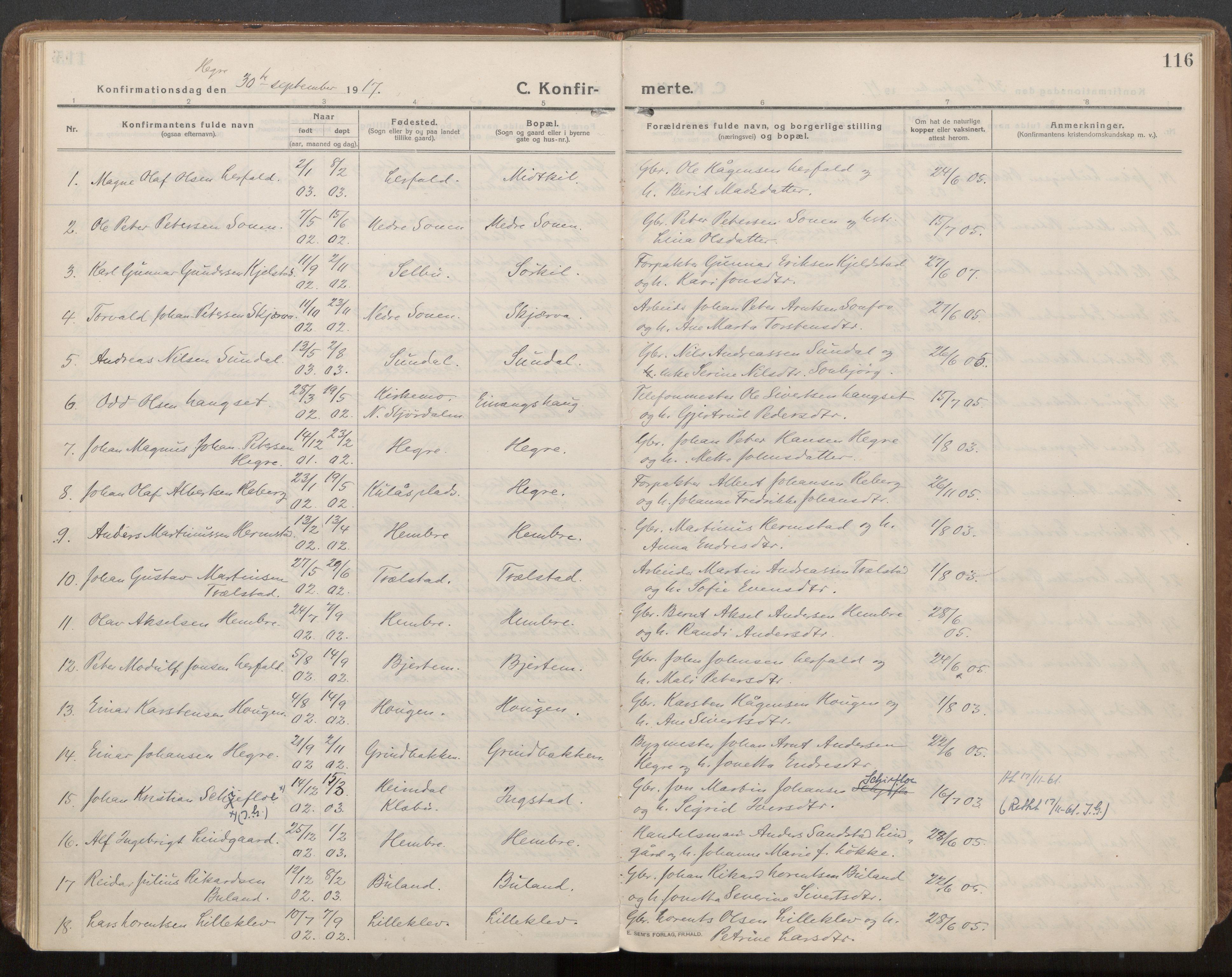 SAT, Ministerialprotokoller, klokkerbøker og fødselsregistre - Nord-Trøndelag, 703/L0037: Parish register (official) no. 703A10, 1915-1932, p. 116