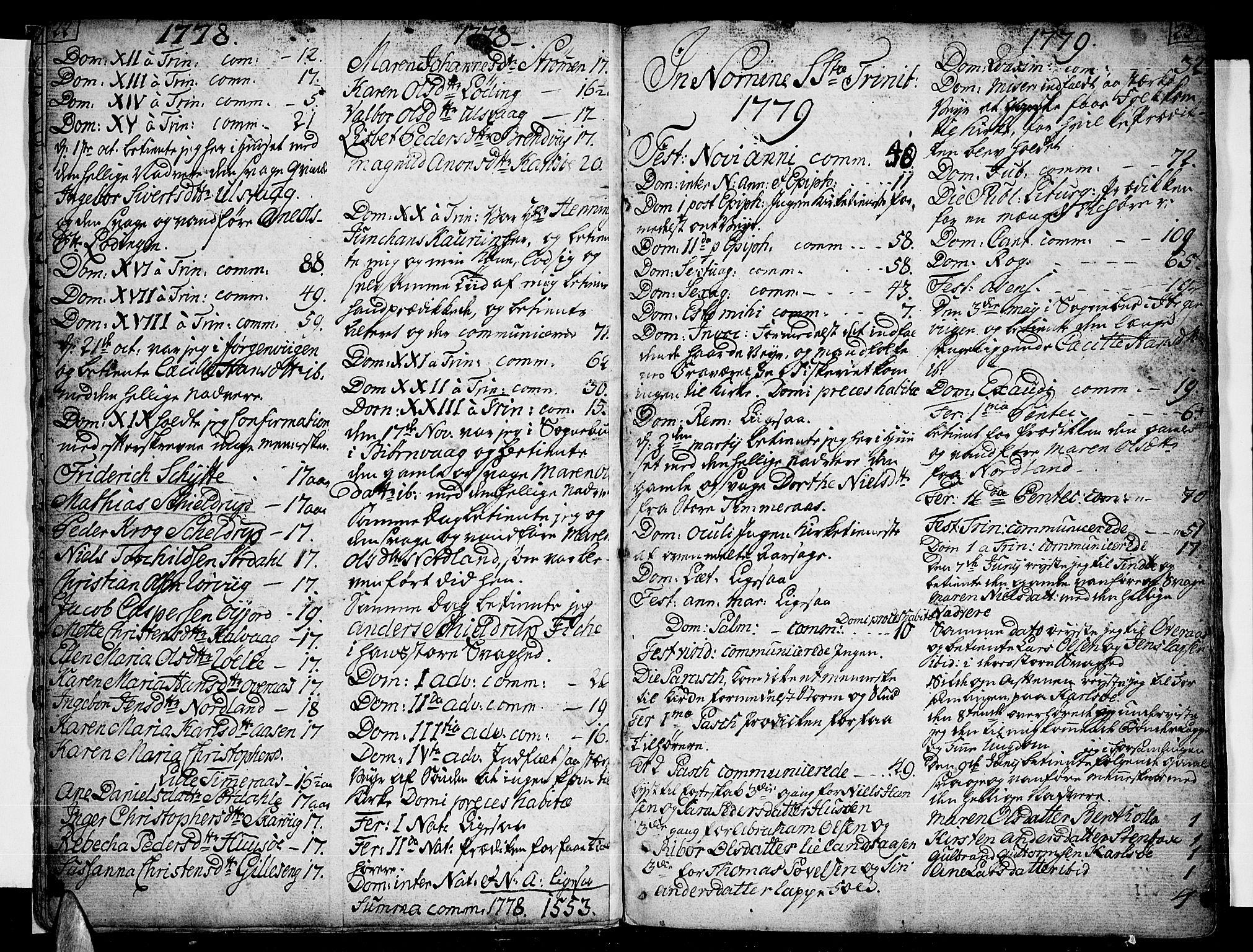 SAT, Ministerialprotokoller, klokkerbøker og fødselsregistre - Nordland, 859/L0841: Parish register (official) no. 859A01, 1766-1821, p. 22-23