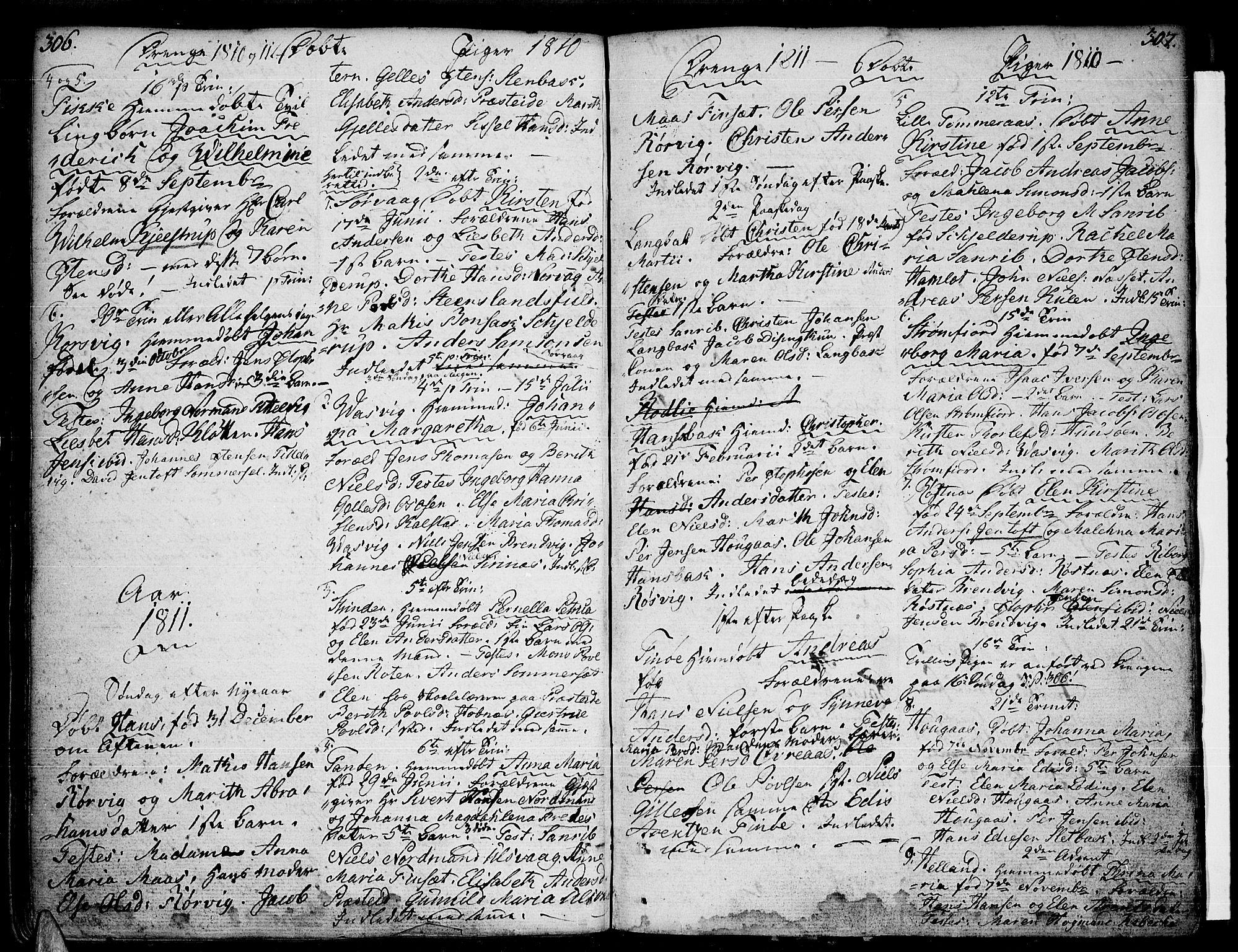 SAT, Ministerialprotokoller, klokkerbøker og fødselsregistre - Nordland, 859/L0841: Parish register (official) no. 859A01, 1766-1821, p. 306-307