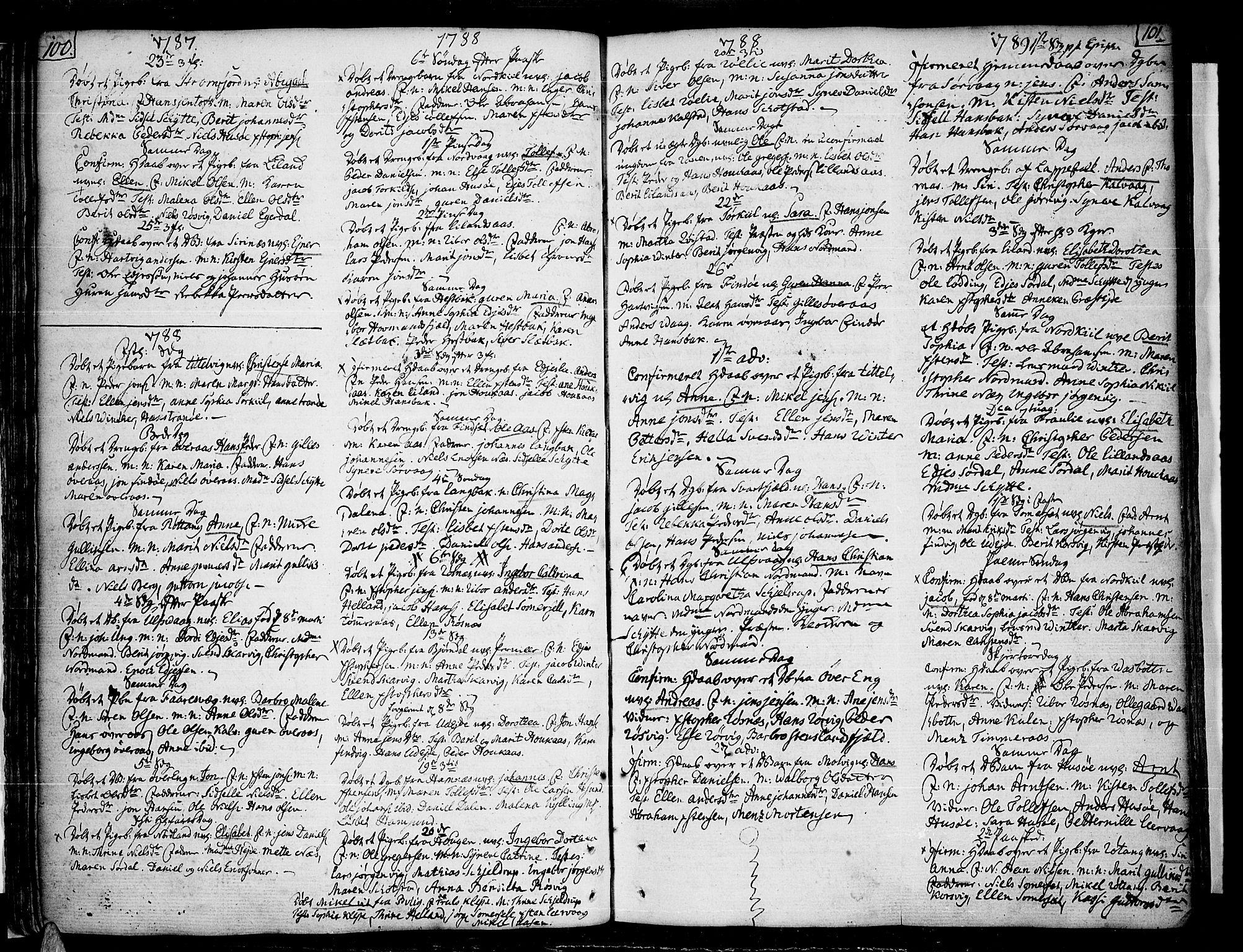 SAT, Ministerialprotokoller, klokkerbøker og fødselsregistre - Nordland, 859/L0841: Parish register (official) no. 859A01, 1766-1821, p. 100-101