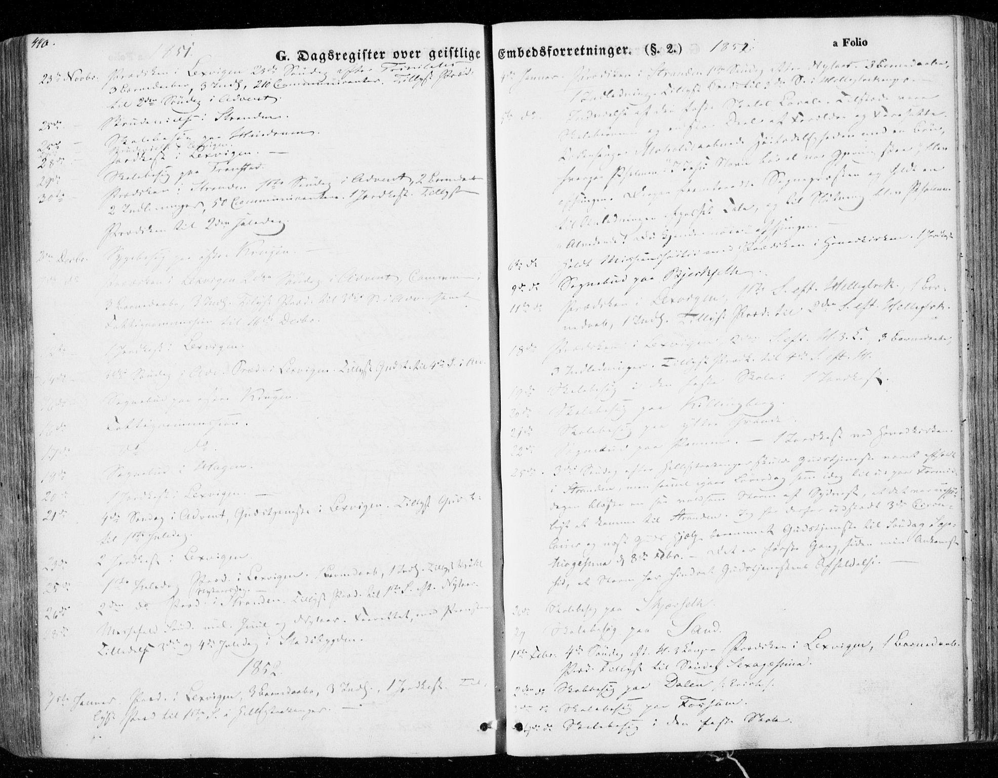 SAT, Ministerialprotokoller, klokkerbøker og fødselsregistre - Nord-Trøndelag, 701/L0007: Parish register (official) no. 701A07 /1, 1842-1854, p. 440
