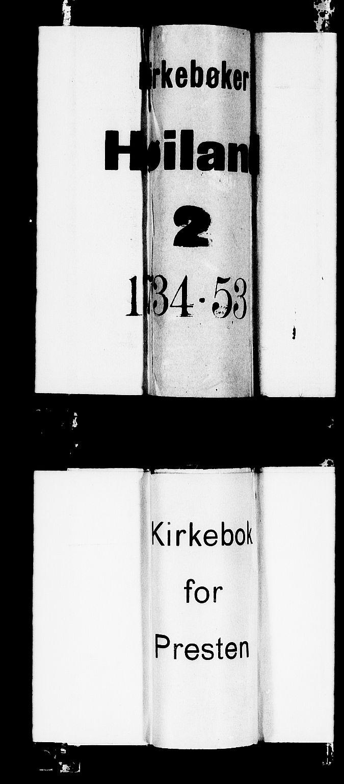 SAST, Høyland sokneprestkontor, 30BA/L0002: Parish register (official) no. A 2, 1734-1754