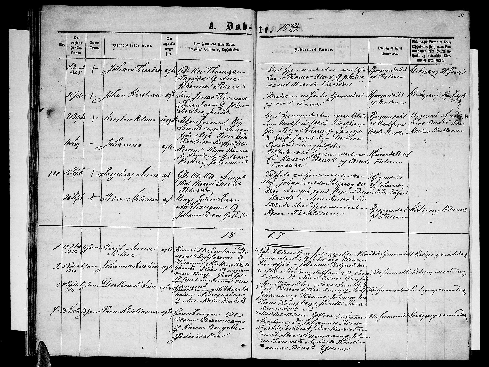 SAT, Ministerialprotokoller, klokkerbøker og fødselsregistre - Nordland, 827/L0415: Parish register (copy) no. 827C04, 1864-1886, p. 31