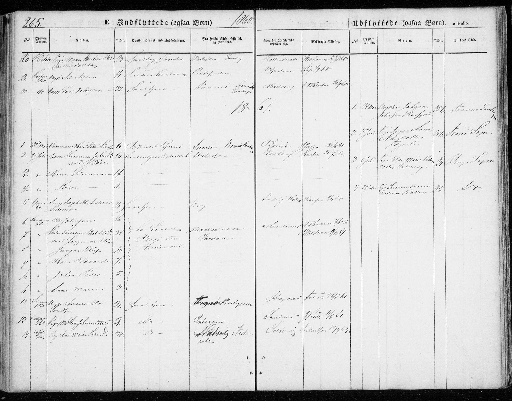 SATØ, Lenvik sokneprestembete, H/Ha: Parish register (official) no. 7, 1855-1865, p. 265
