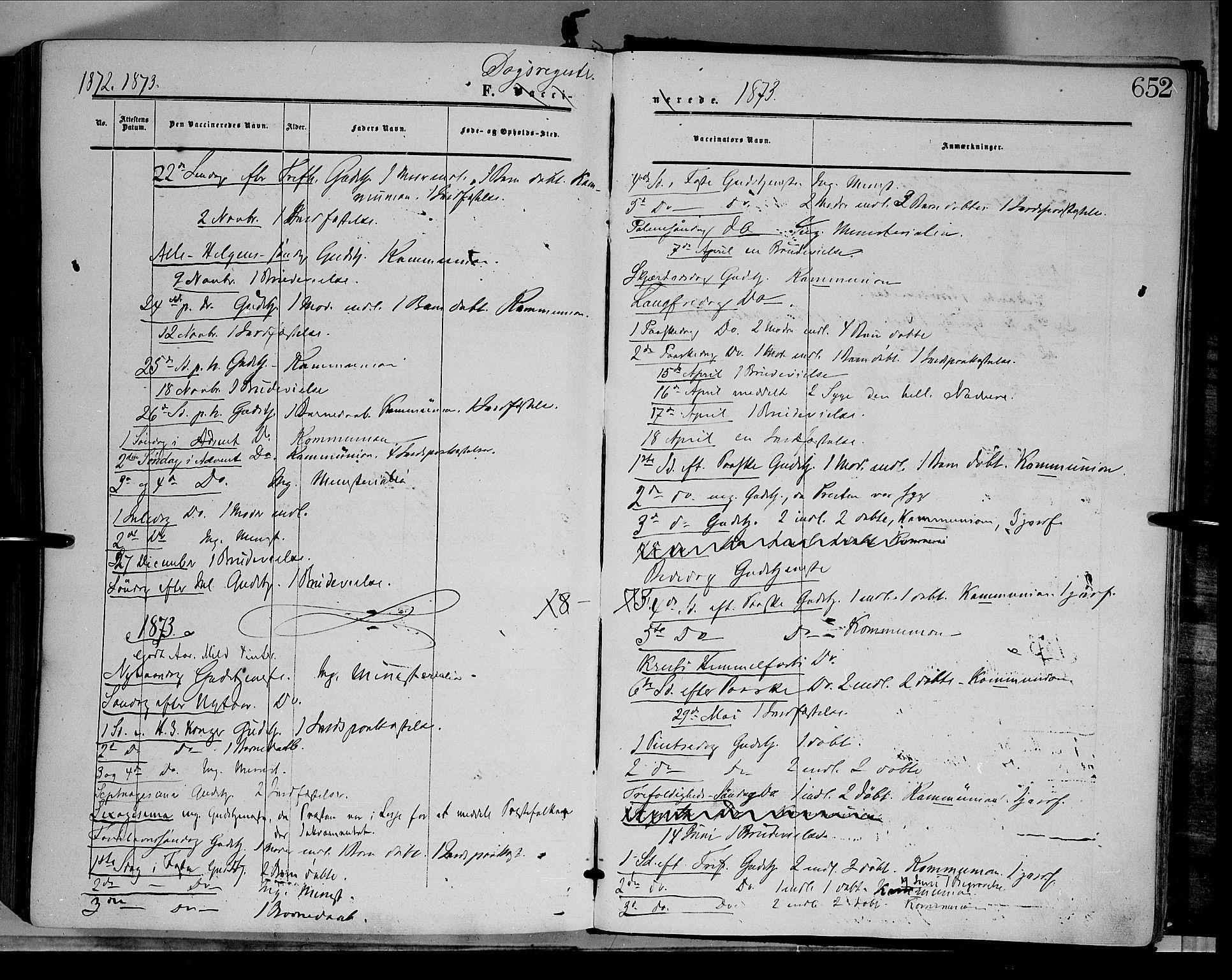 SAH, Dovre prestekontor, Parish register (official) no. 1, 1854-1878, p. 652