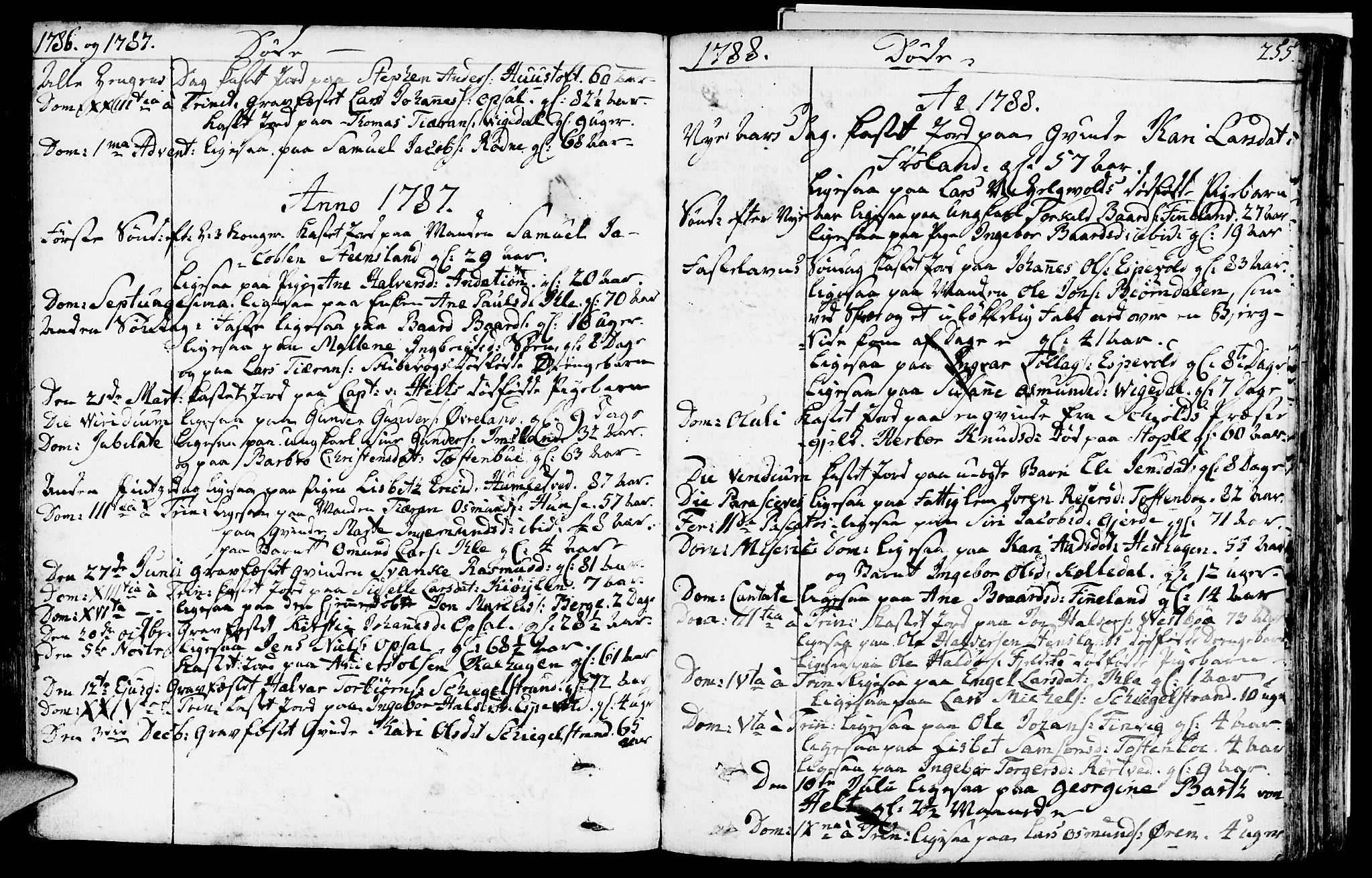 SAST, Vikedal sokneprestkontor, IV: Parish register (official) no. A 2, 1779-1817, p. 255