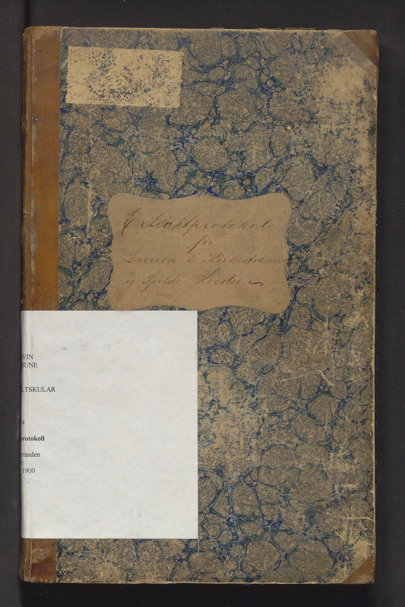 IKAH, Granvin herad. Barneskulane, F/Fa/L0007: Skuleprotokoll for Kirkestranden og Spilde krinsar i Ulvik prestegjeld, 1886-1901