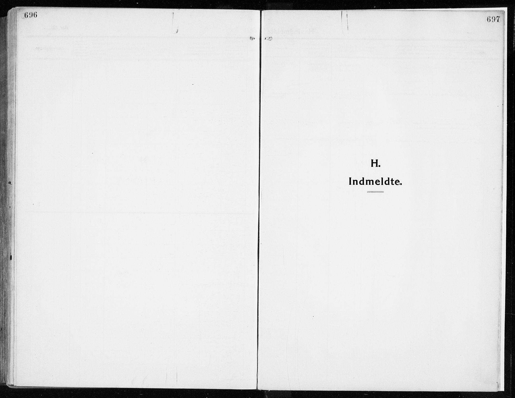 SAH, Ringsaker prestekontor, K/Ka/L0020: Parish register (official) no. 20, 1913-1922, p. 696-697