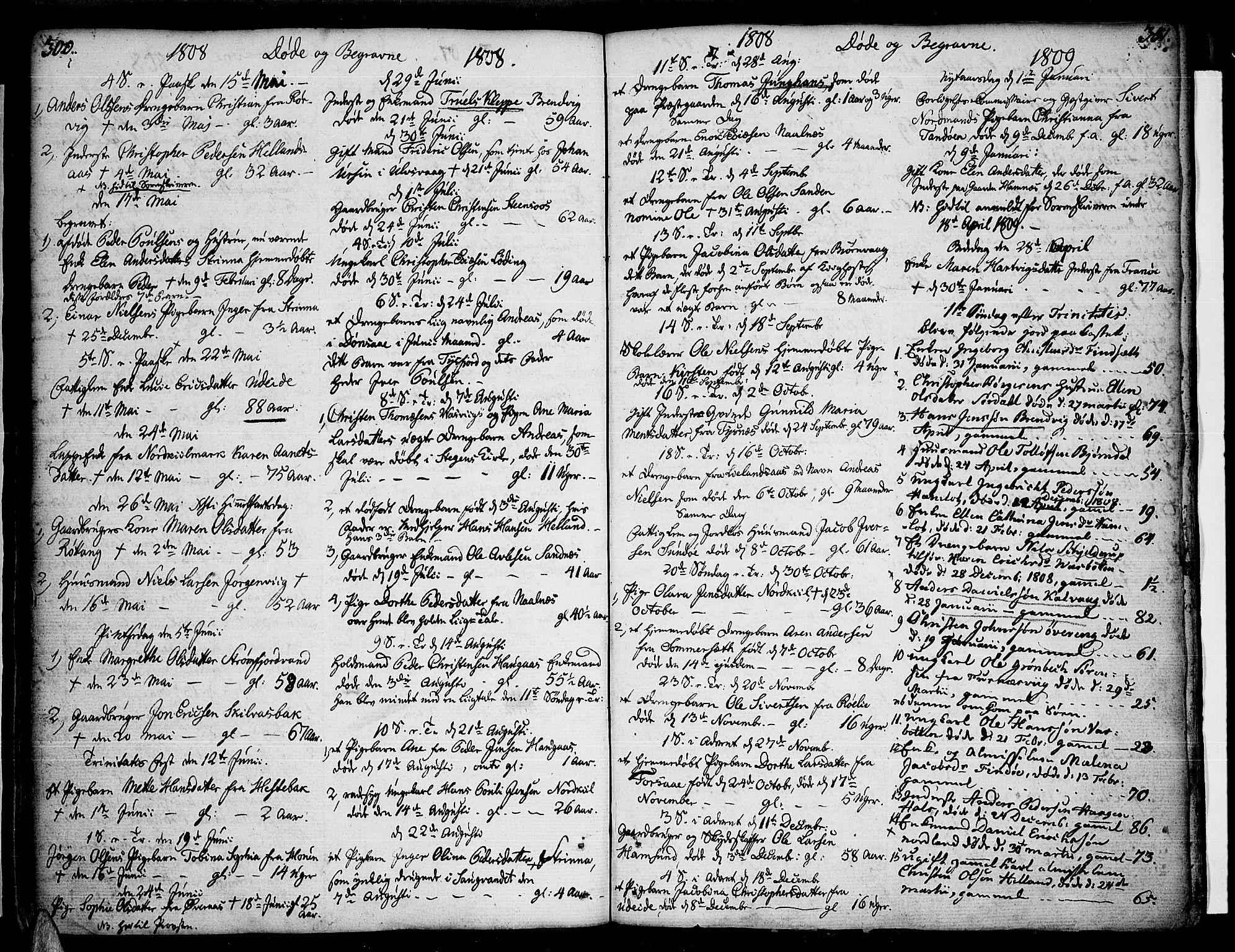 SAT, Ministerialprotokoller, klokkerbøker og fødselsregistre - Nordland, 859/L0841: Parish register (official) no. 859A01, 1766-1821, p. 300-301