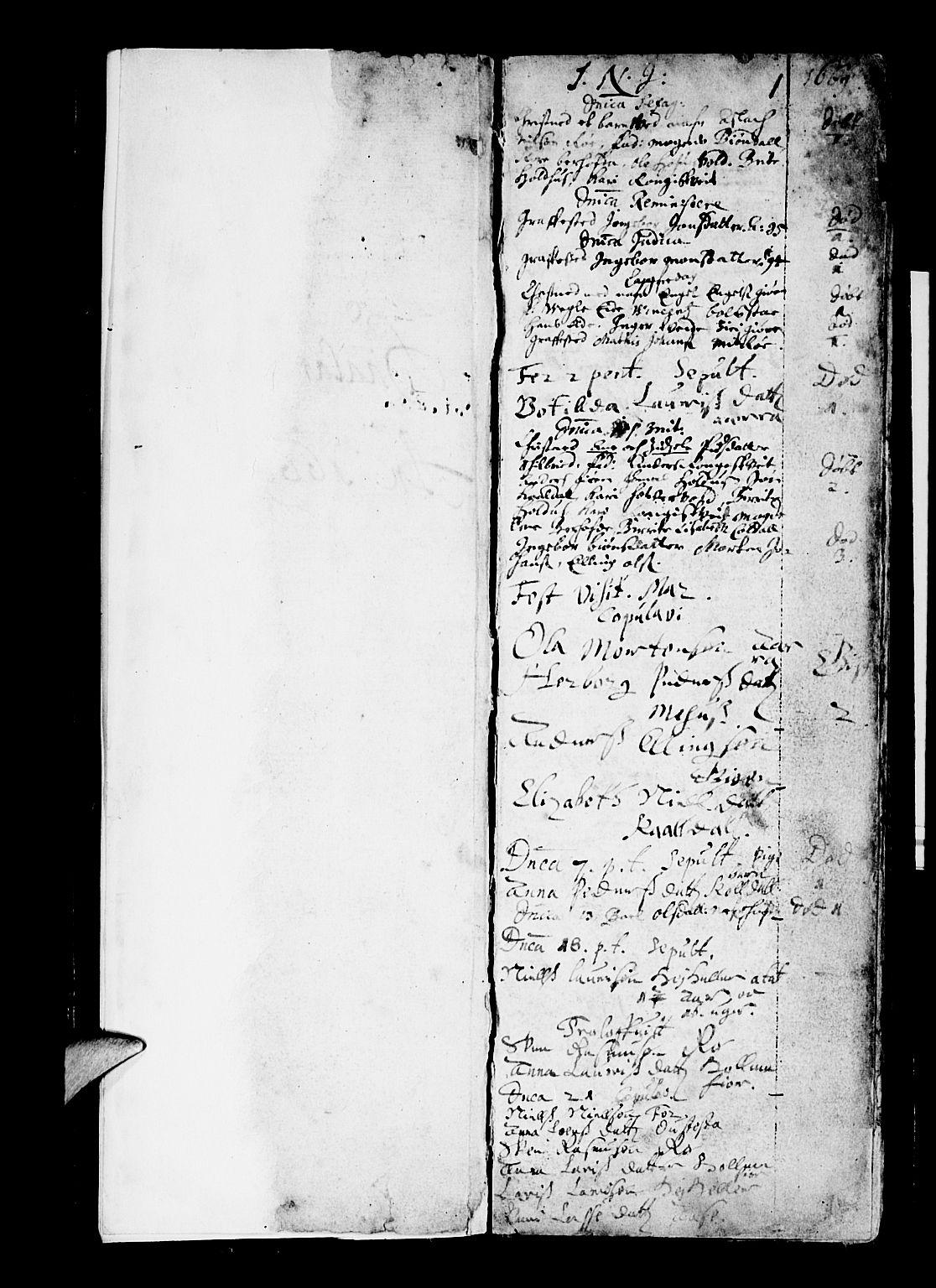 SAB, Os sokneprestembete*, Parish register (official) no. A 3, 1669-1760, p. 1
