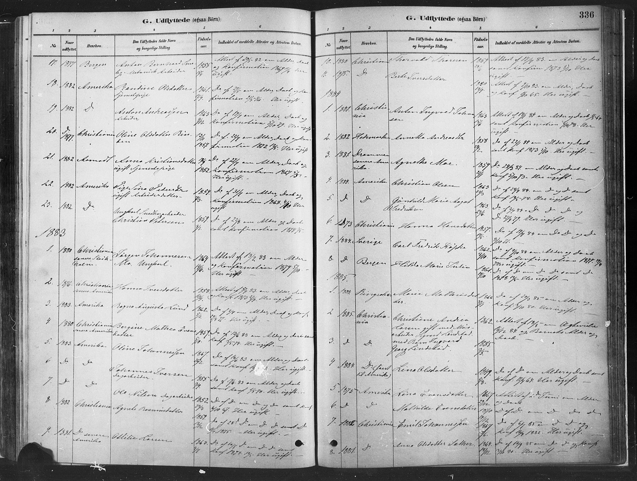 SAH, Fåberg prestekontor, H/Ha/Haa/L0010: Parish register (official) no. 10, 1879-1900, p. 336