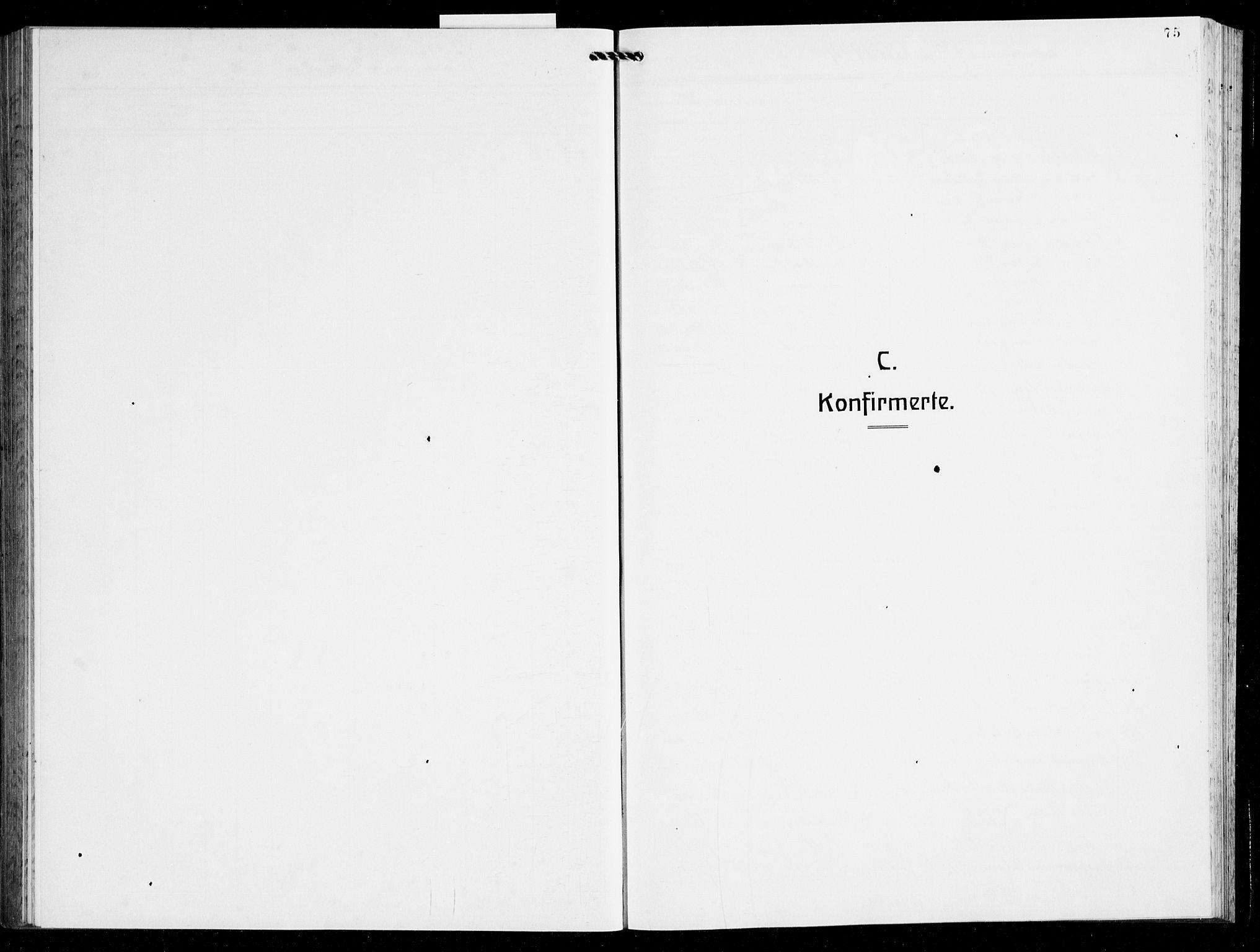 SAB, Finnås sokneprestembete, H/Ha/Hab/Haba/L0005: Parish register (copy) no. A 5, 1924-1945, p. 75