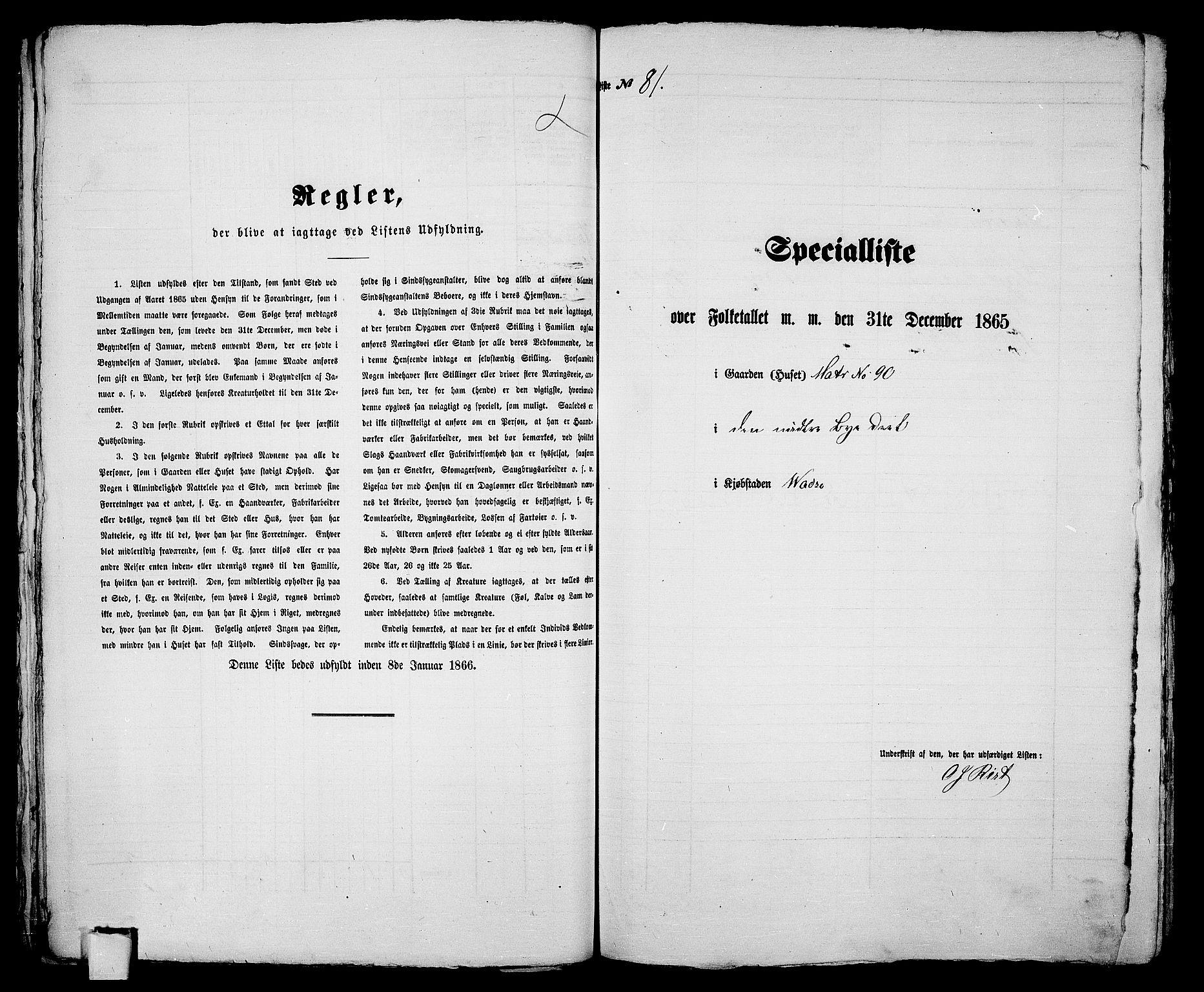 RA, 1865 census for Vadsø/Vadsø, 1865, p. 167