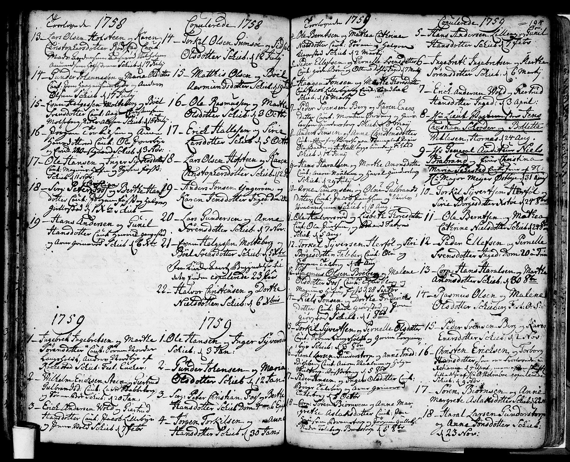 SAO, Skjeberg prestekontor Kirkebøker, F/Fa/L0002: Parish register (official) no. I 2, 1726-1791, p. 194
