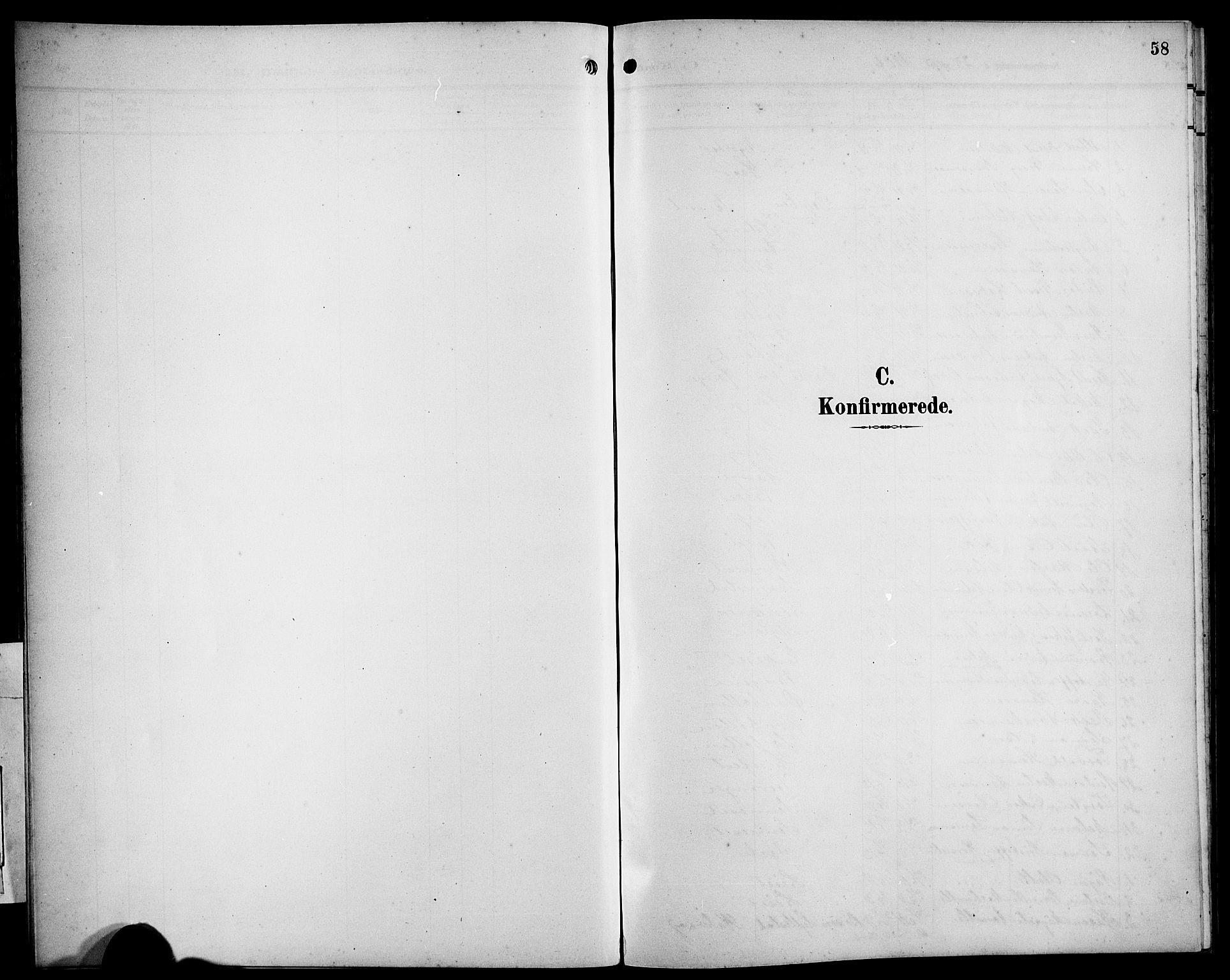 SAB, Bremanger Sokneprestembete, H/Hab: Parish register (copy) no. B 1, 1906-1925, p. 58